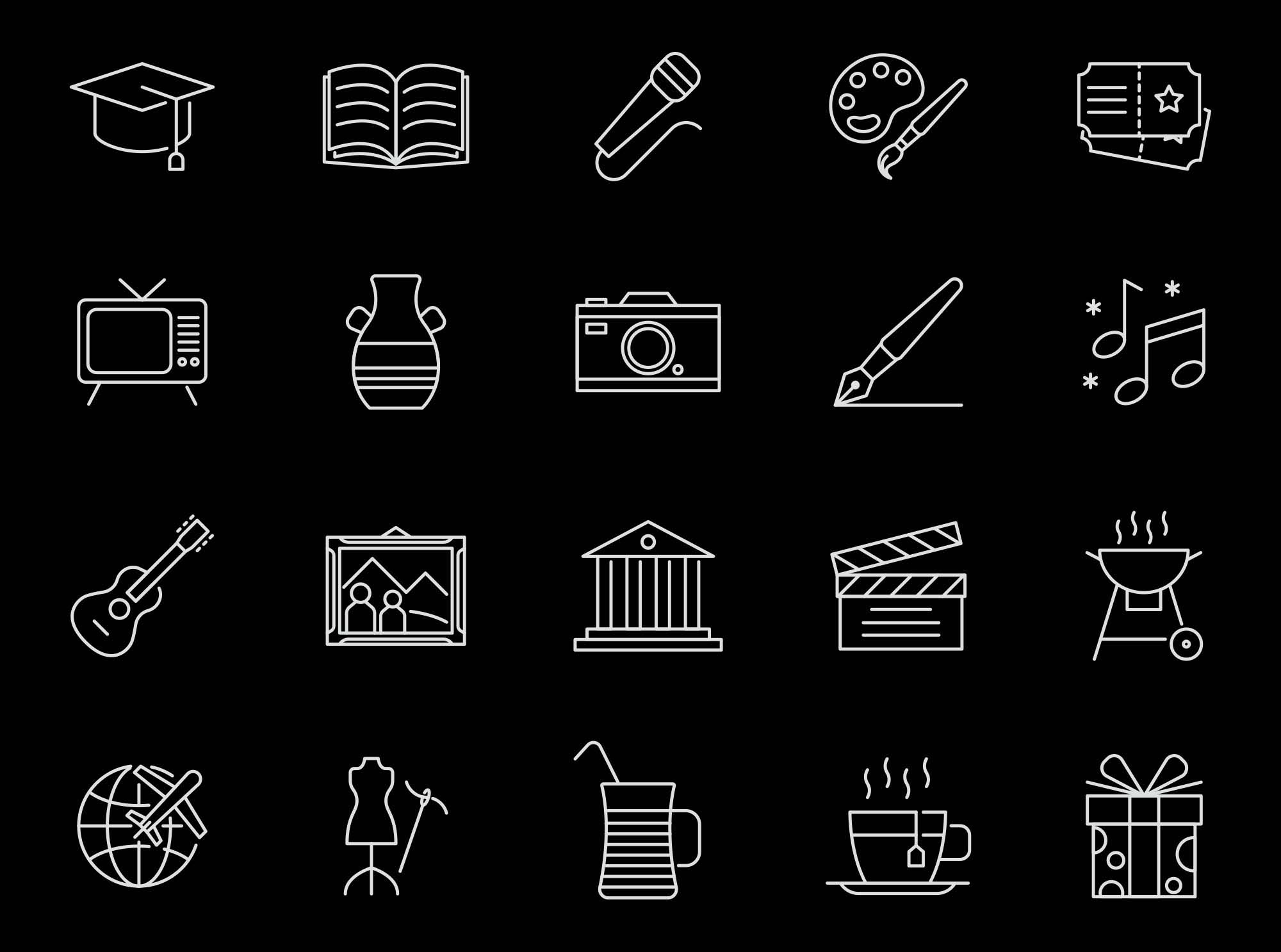 Culture Vector Icons 2