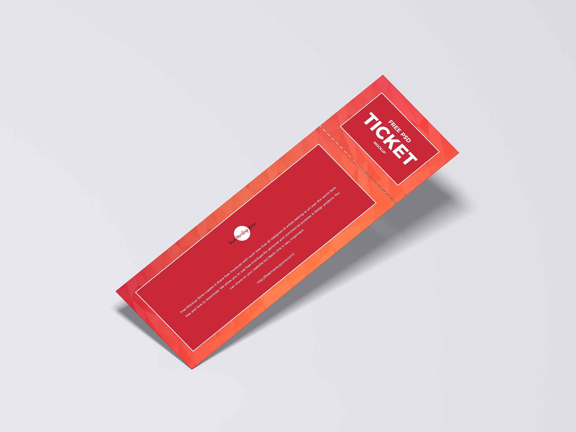 Detachable Ticket Mockup