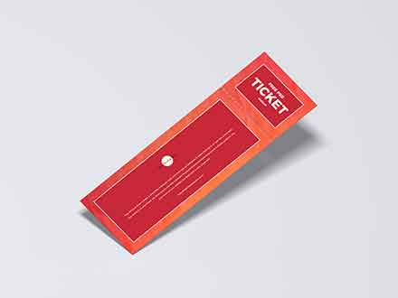 Detachable Ticket Mockup