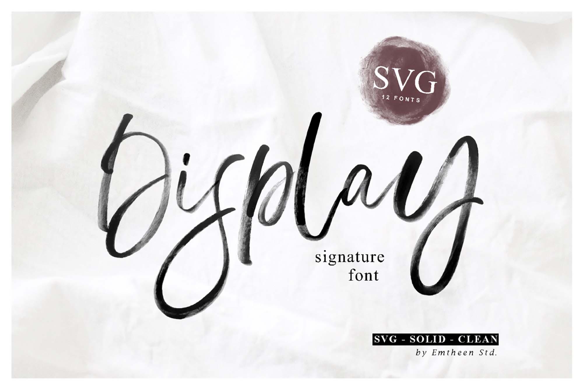 Display Signature Font
