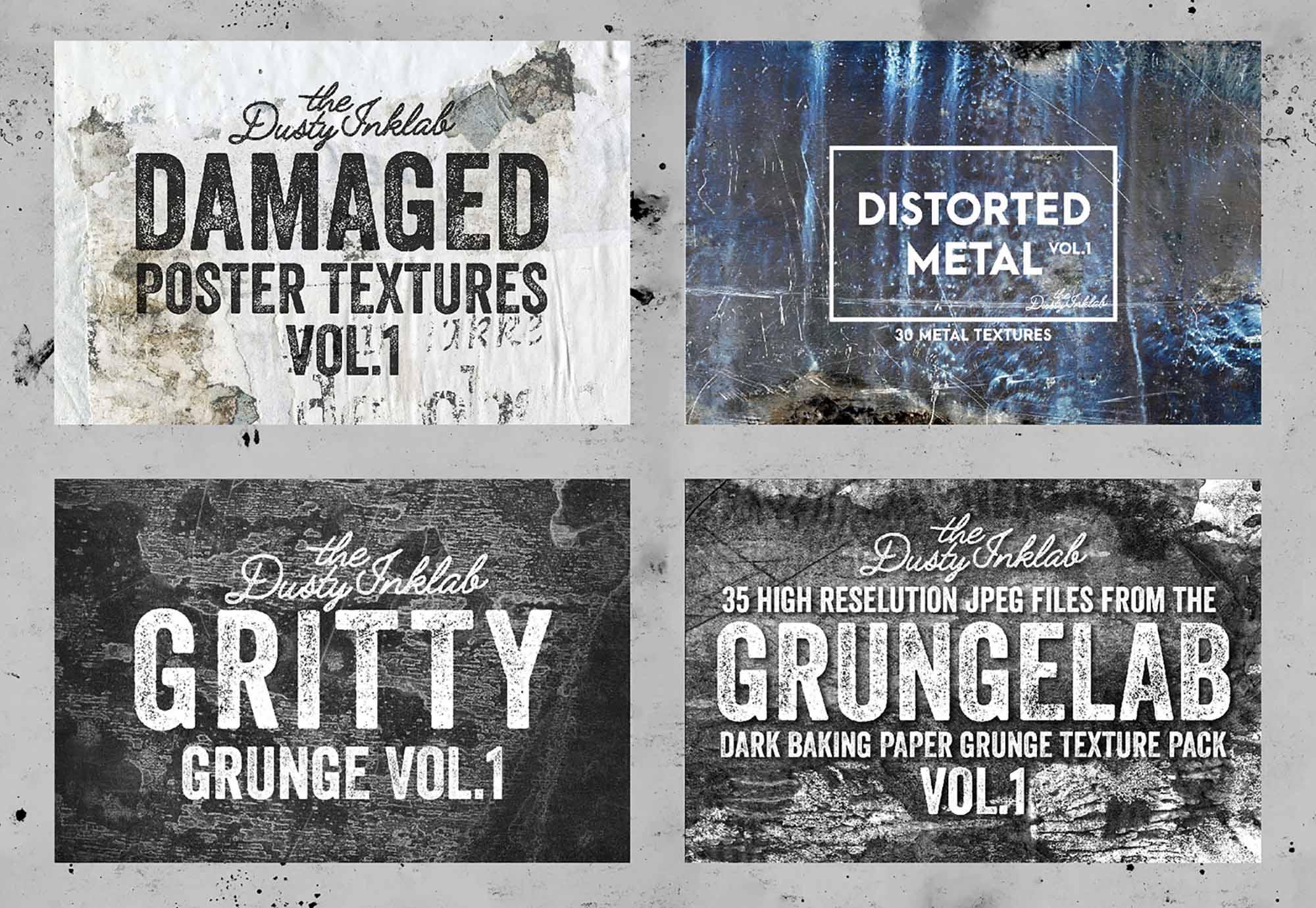 Dusty Inklab Grunge Textures 1