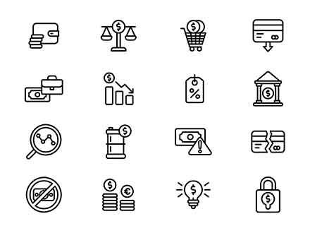 Economy Vector Icons