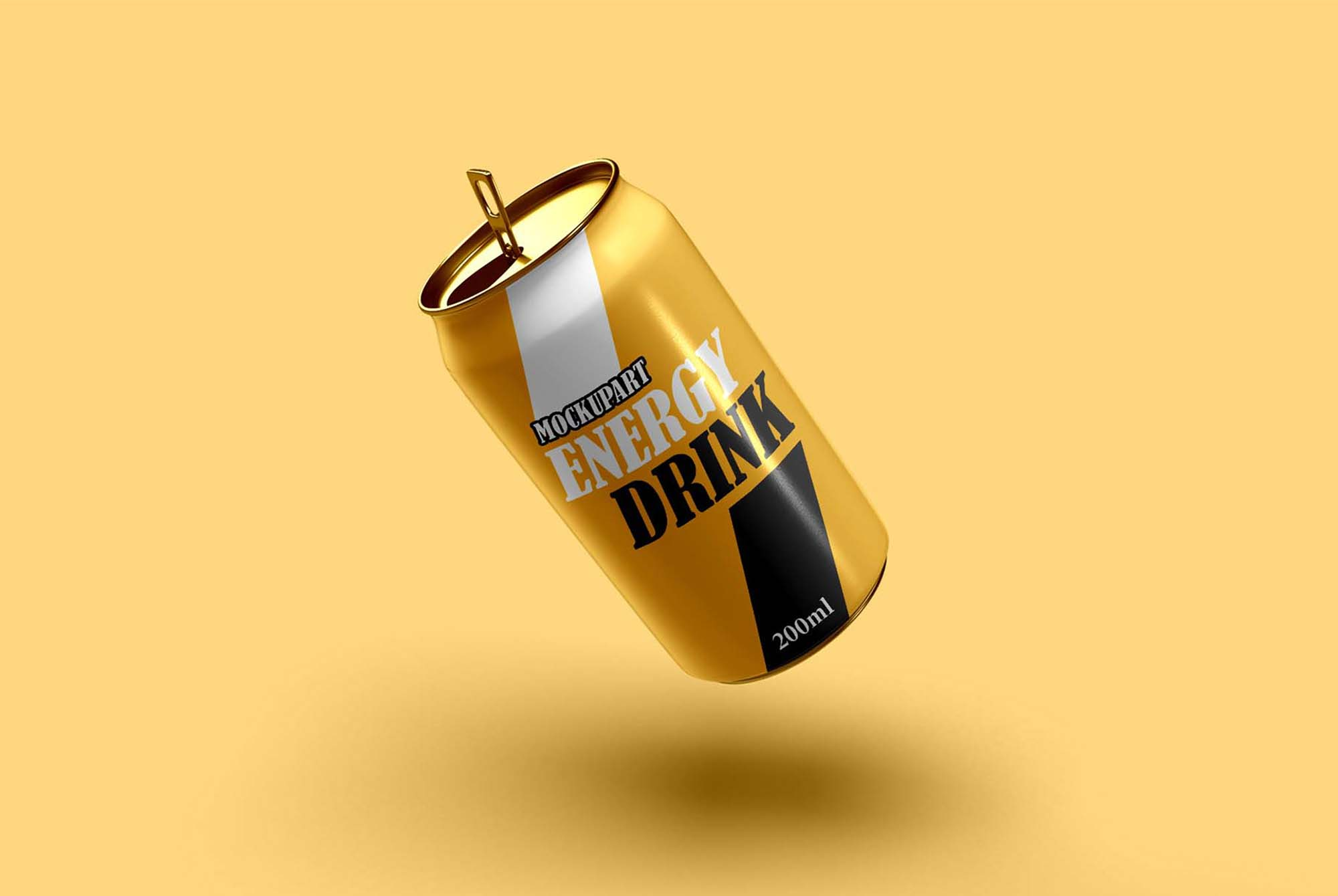 Floating Soda Can Mockup