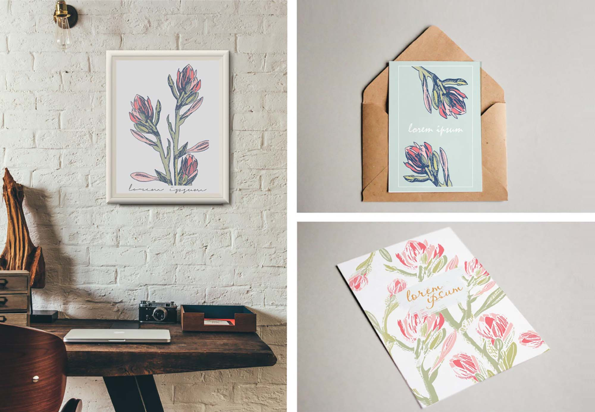 Floral Card Templates 2