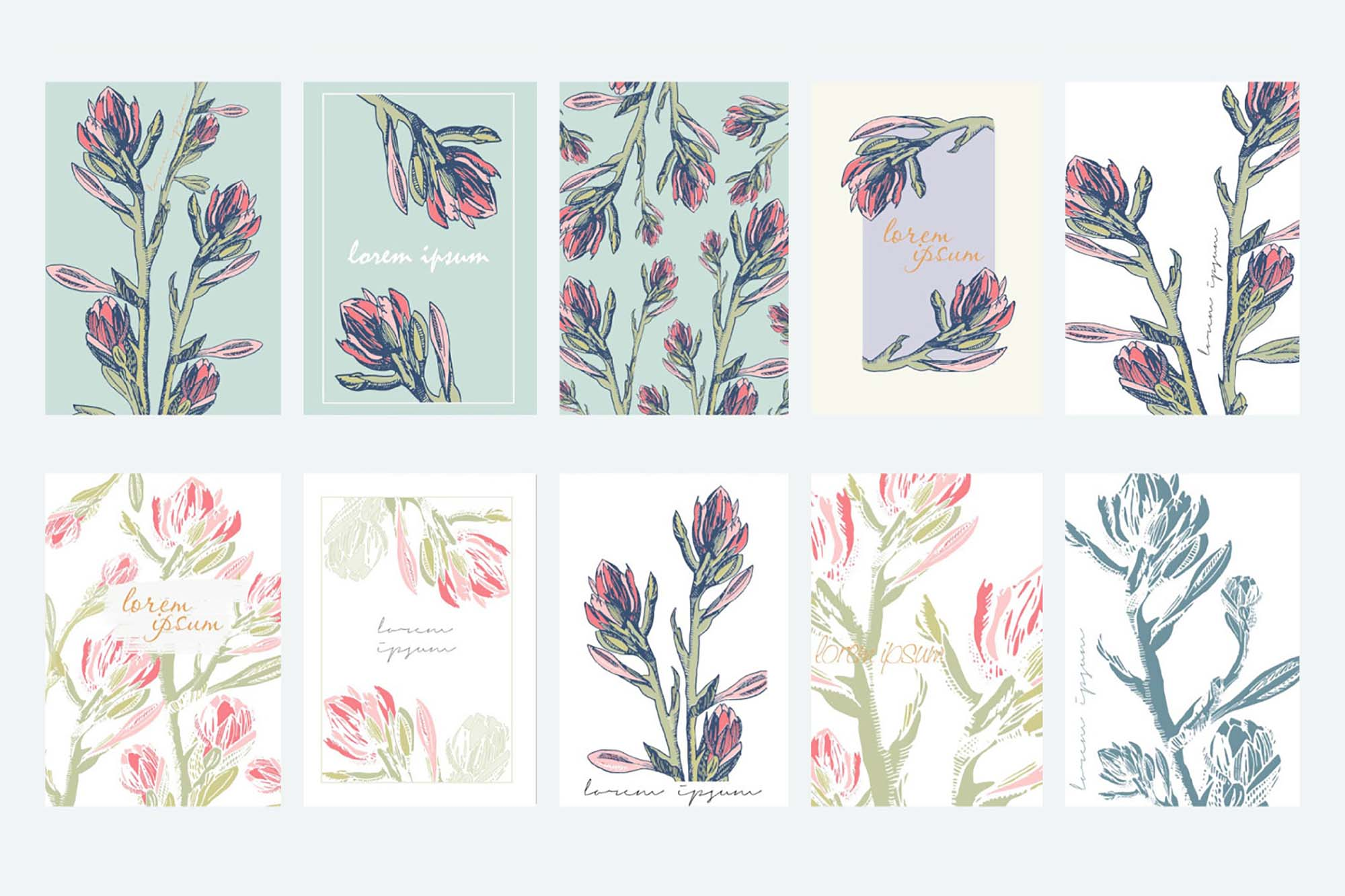 Floral Card Templates 3