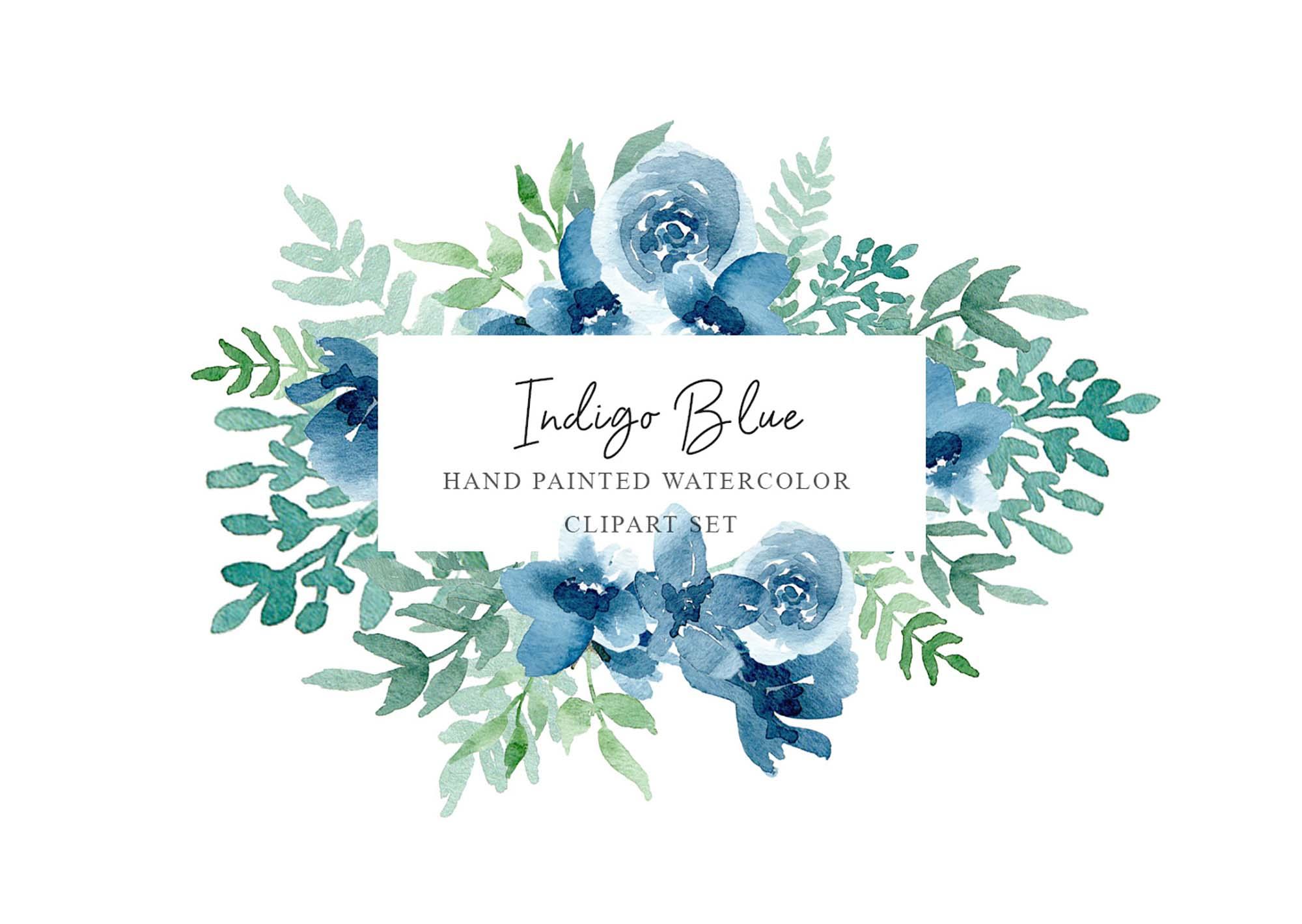 Floral Watercolor Design Elements