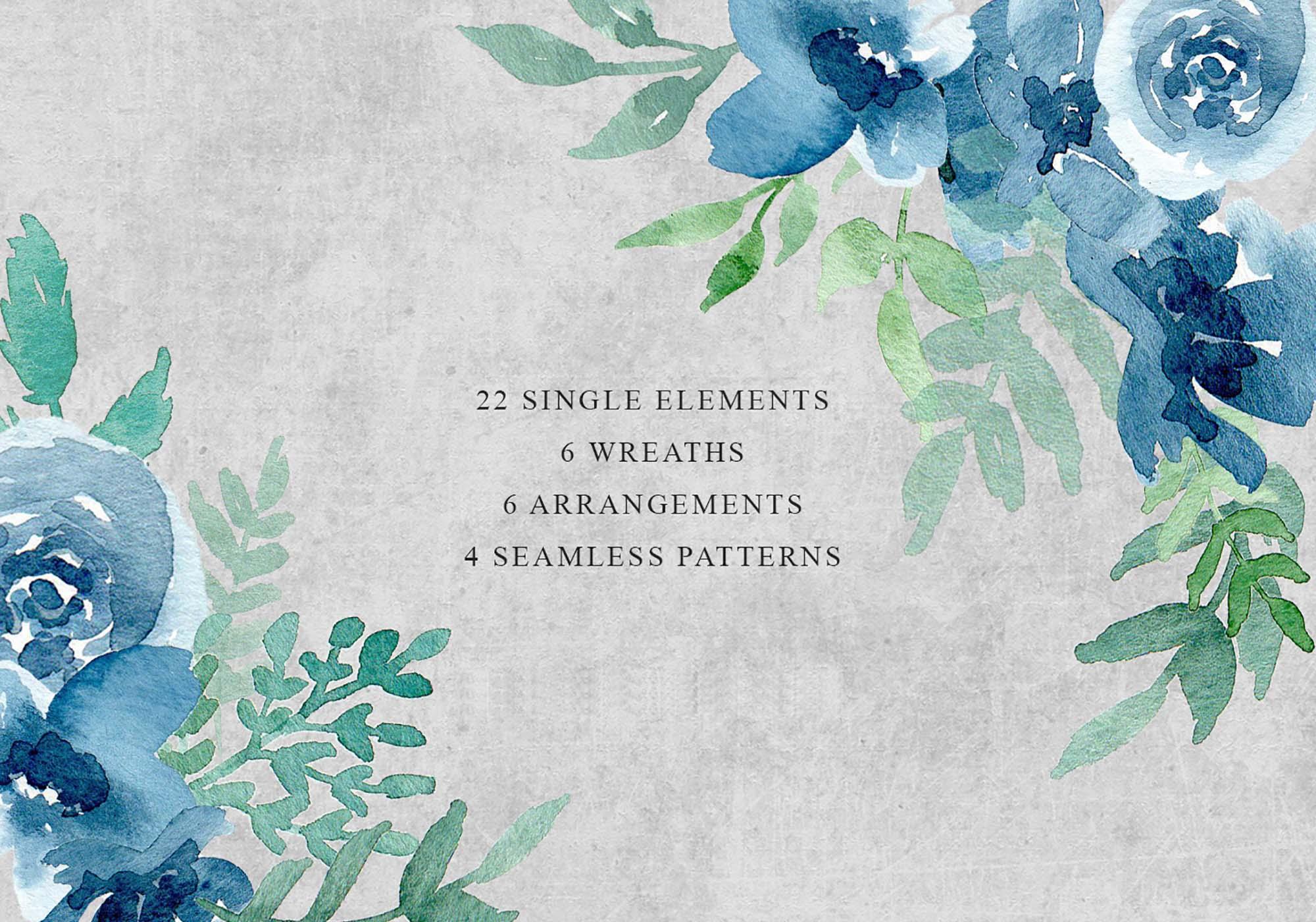 Floral Watercolor Design Elements 2