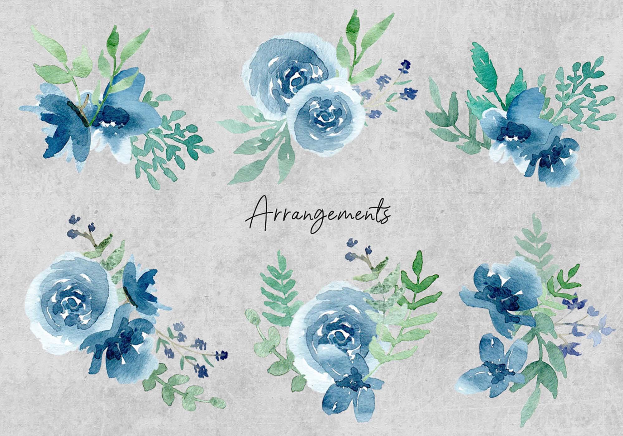 Floral Watercolor Design Elements 4