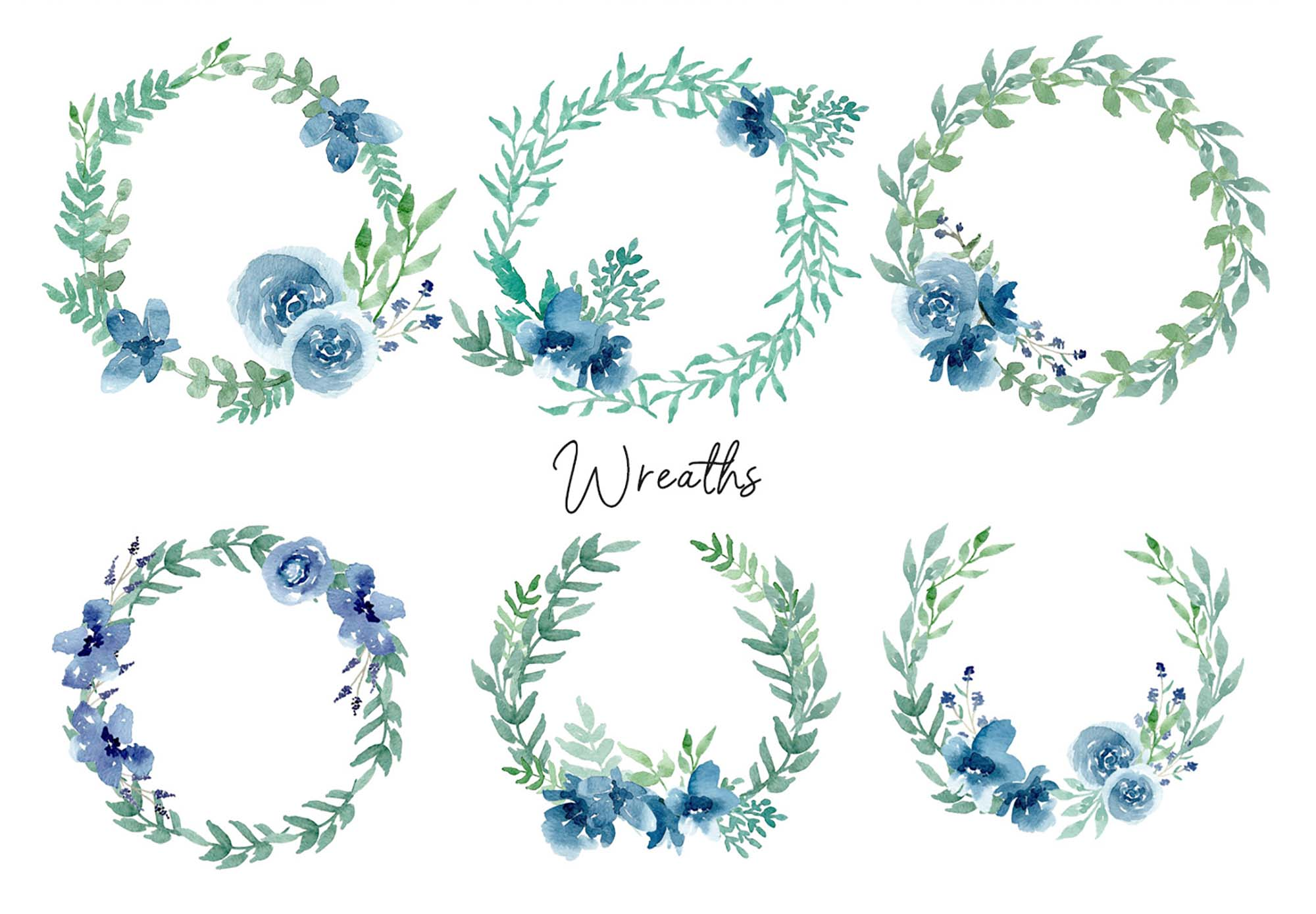 Floral Watercolor Design Elements 5