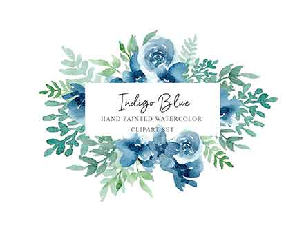 Floral Watercolor Design Elements