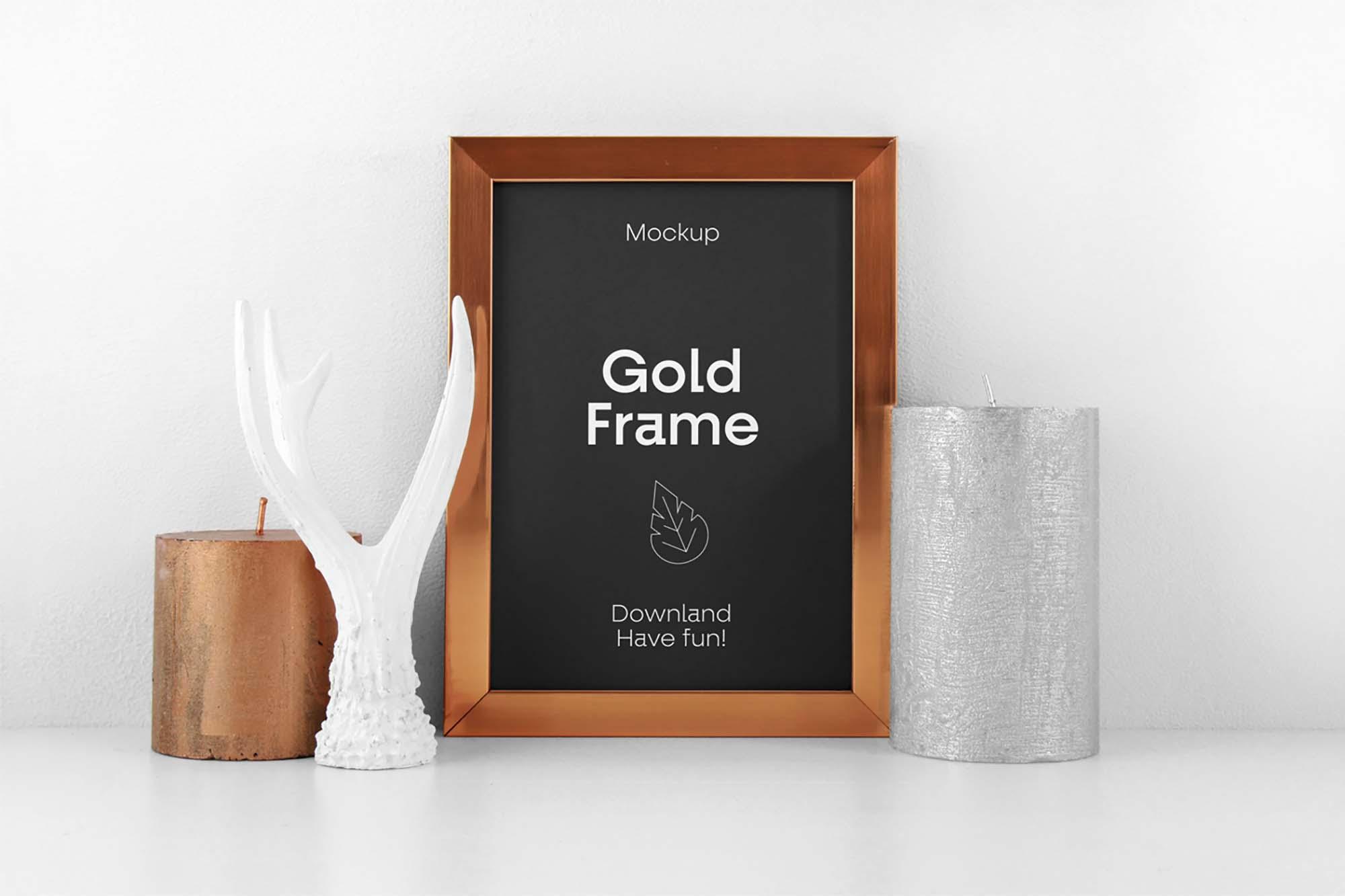 Gold Frame Mockup