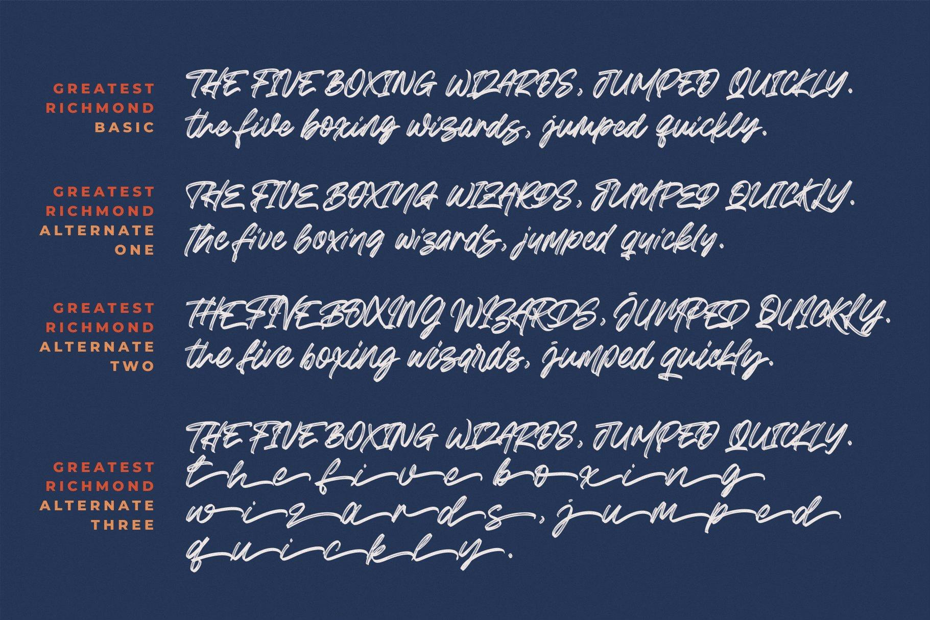 Greatest Richmond Brush Font 11