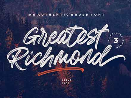 Greatest Richmond Brush Font