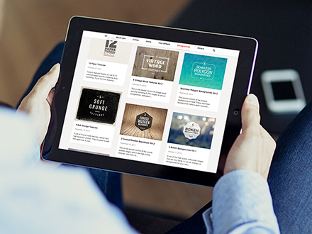 Handheld iPad Photo Mockup