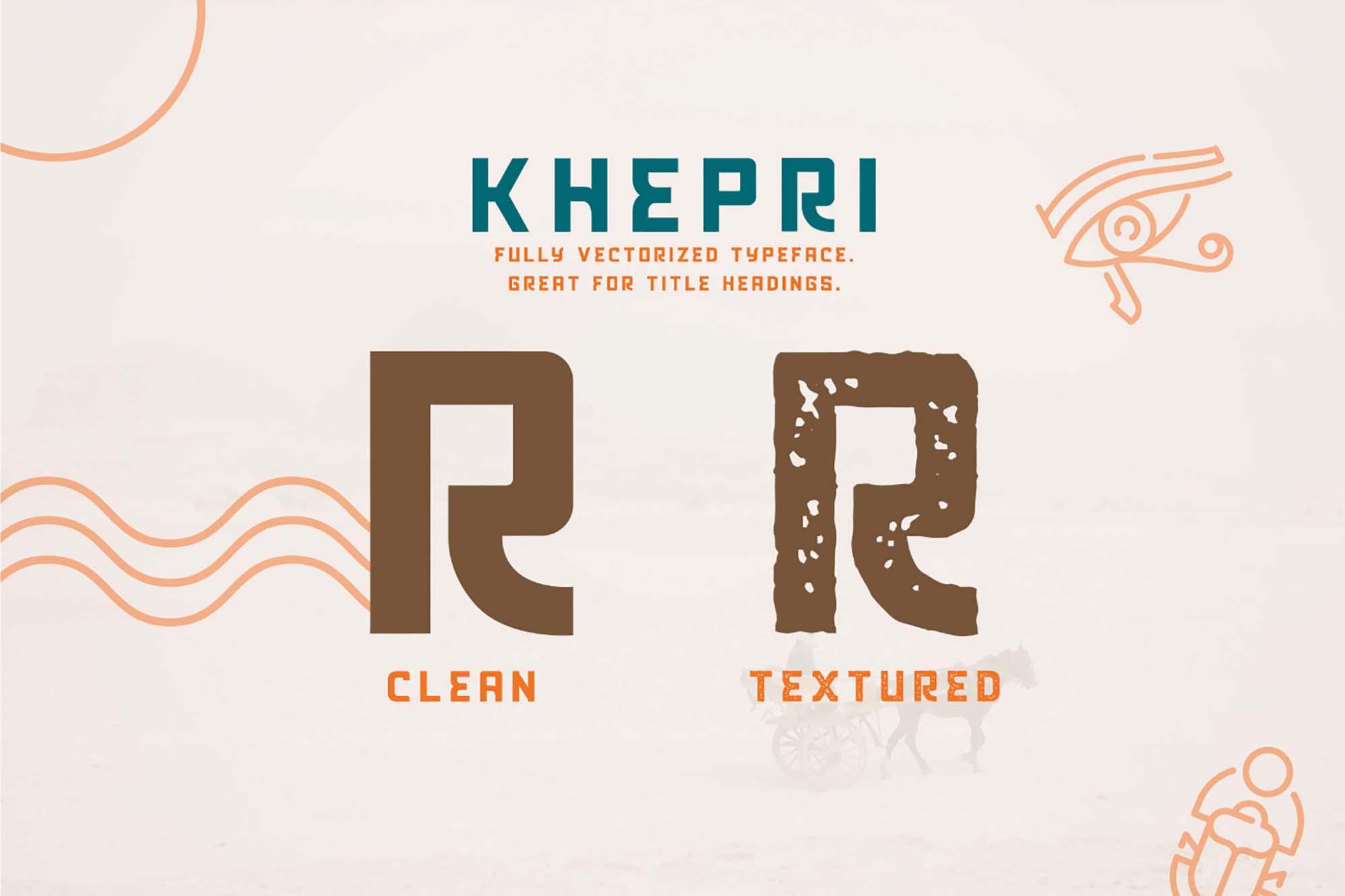 Khepri Egyptian Typeface 4