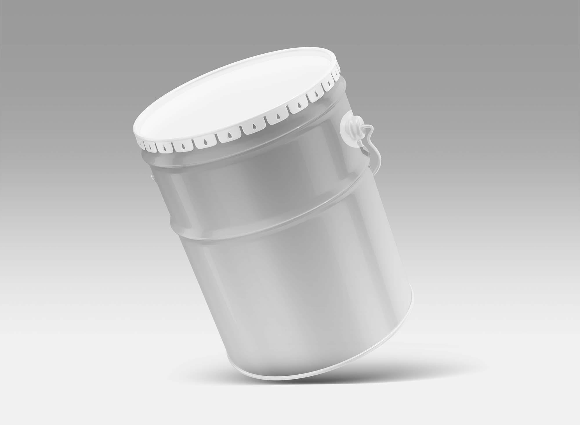 Metal Paint Bucket Mockup 2
