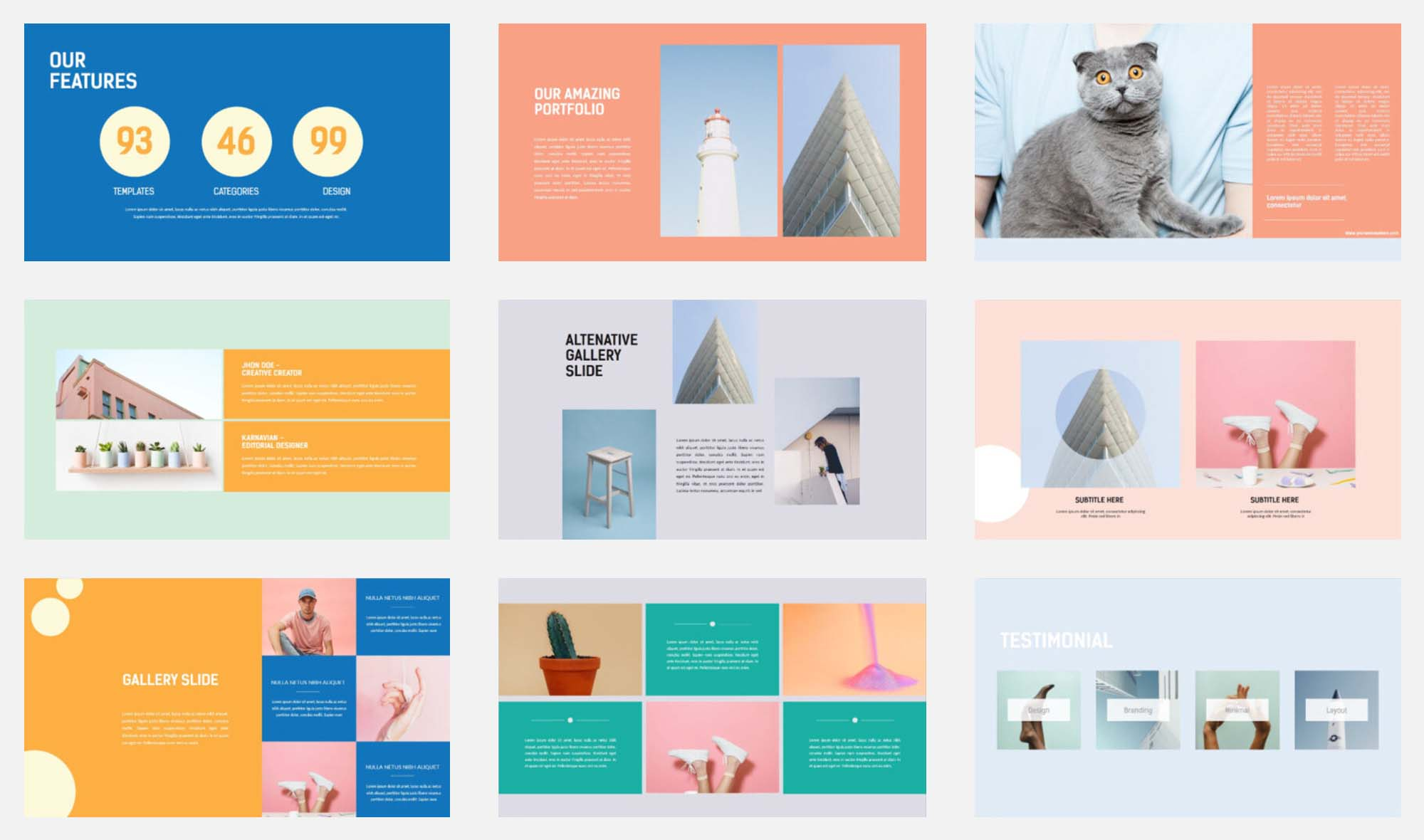 Minimal PowerPoint Presentation Template 1