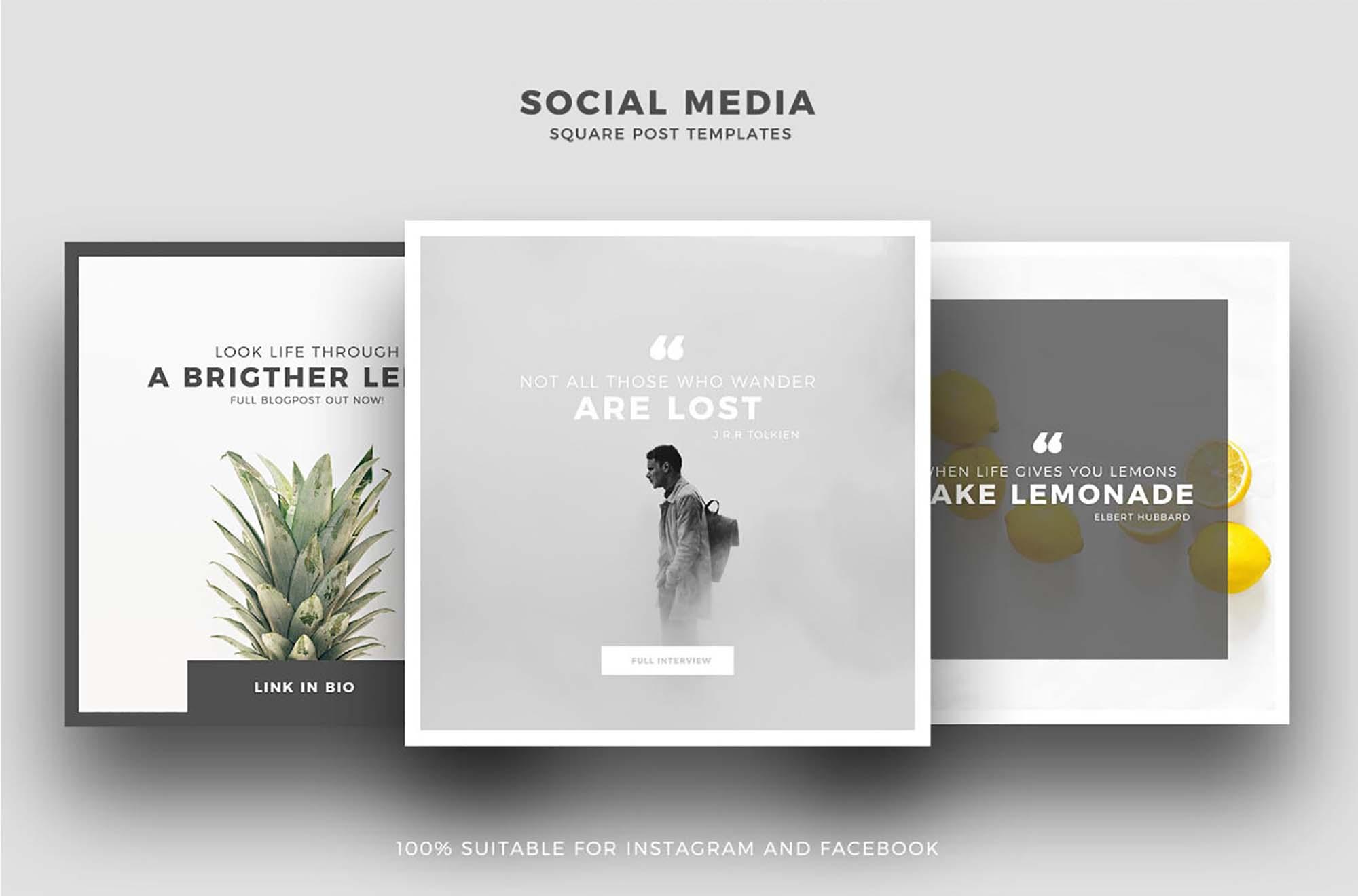 Minimis Instagram Social Media Templates 2