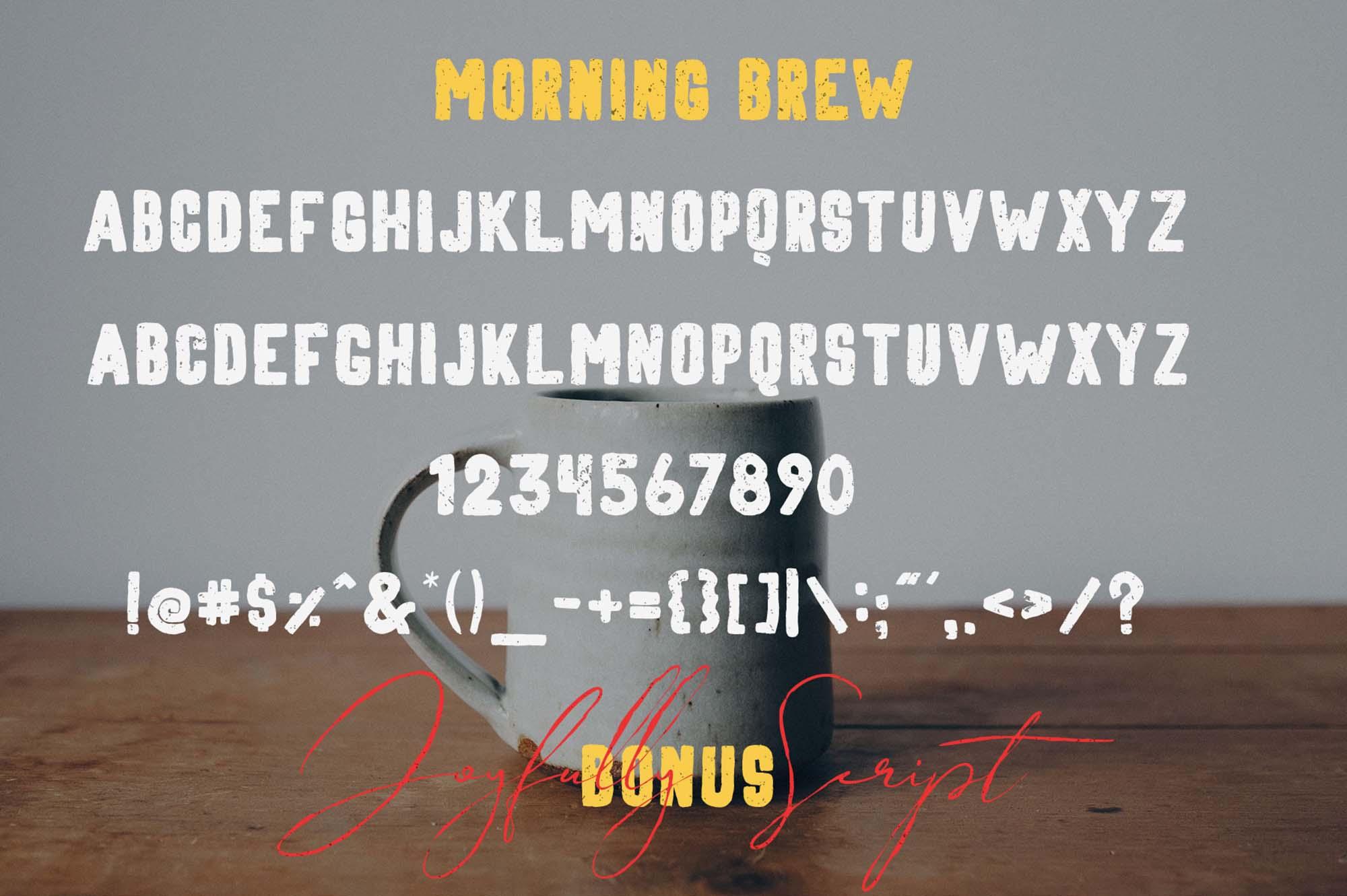 Morning Brew Font 3