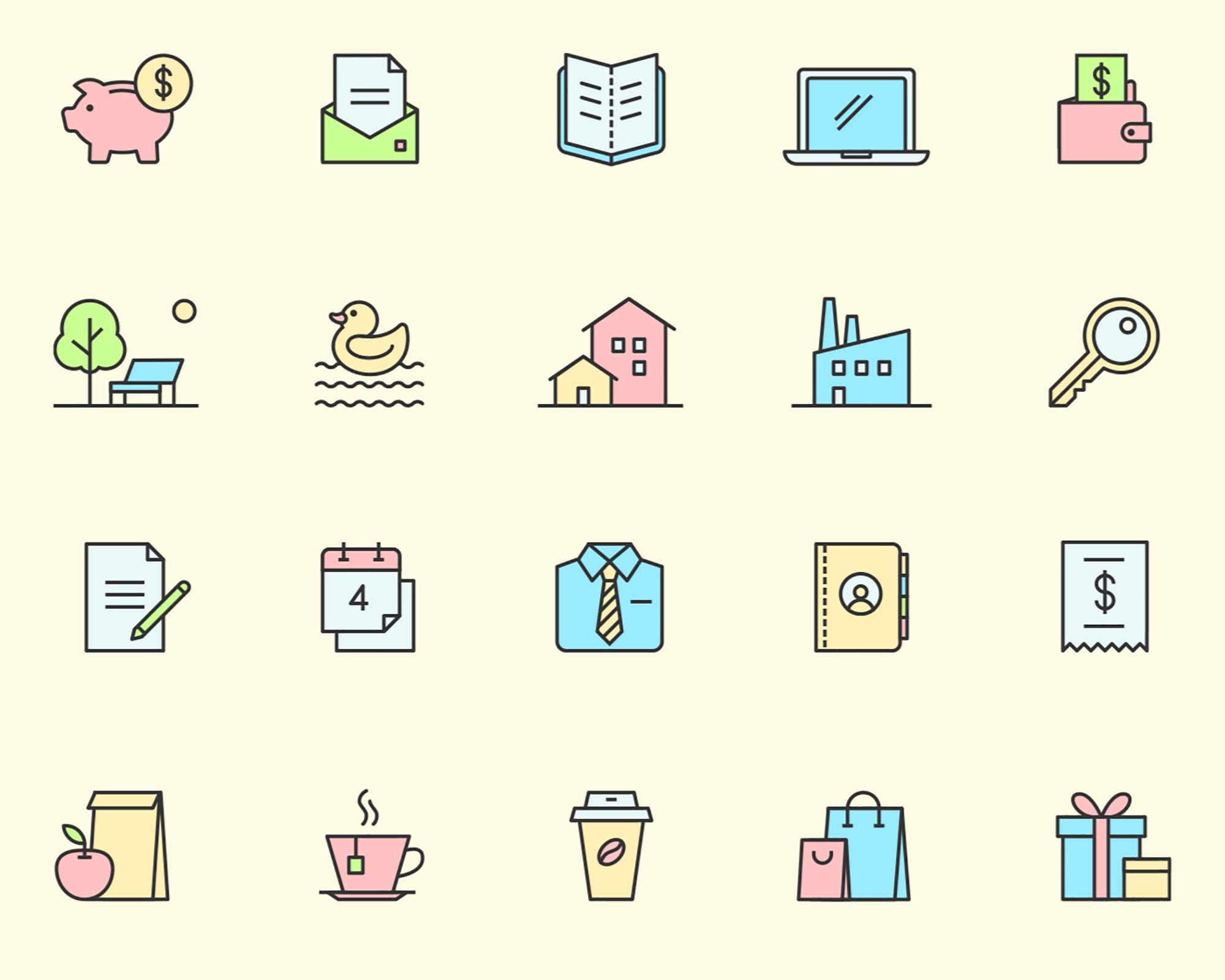 Multipurpose Vector Icons