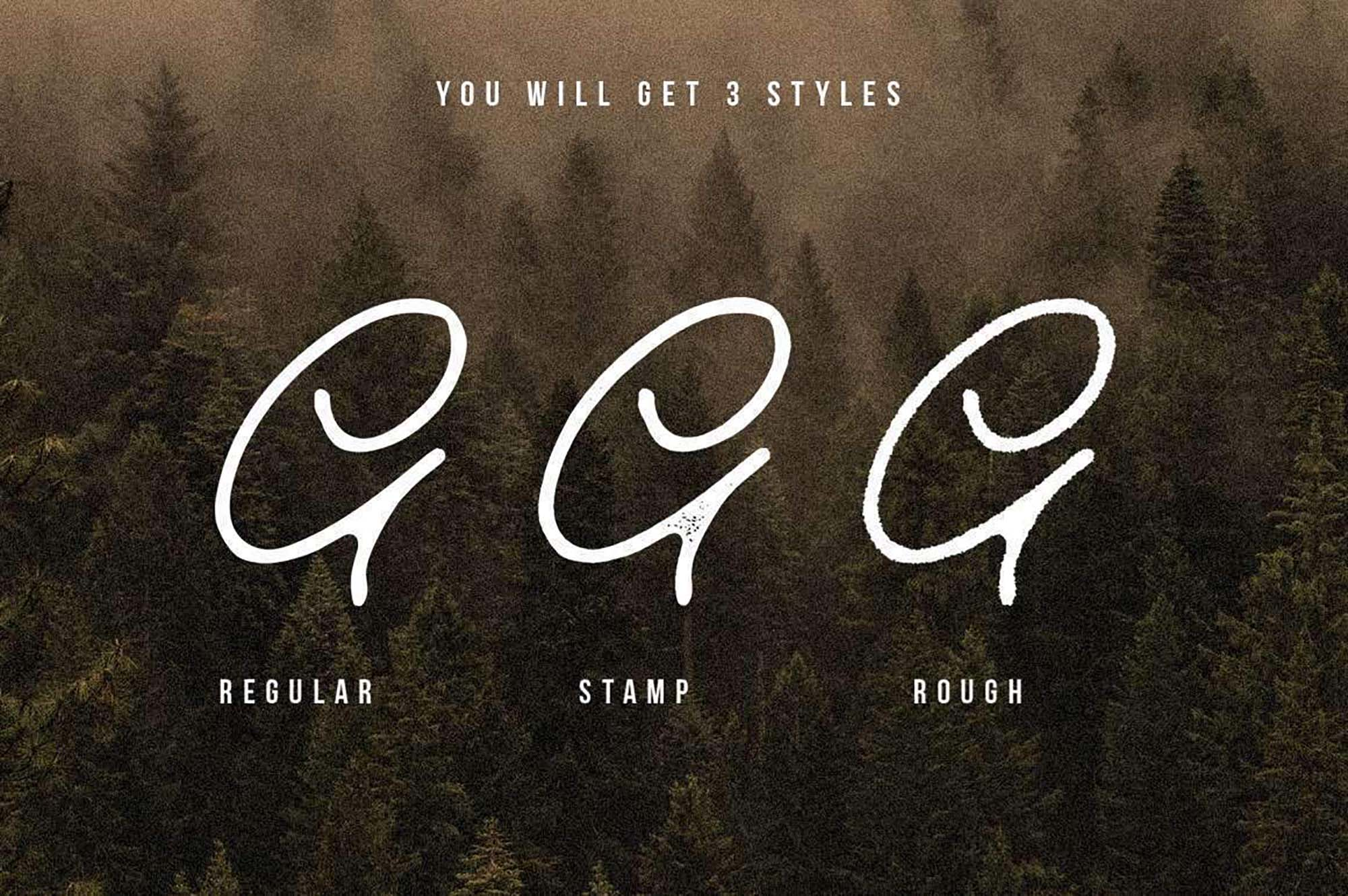 Old Bridges Signature Font 7