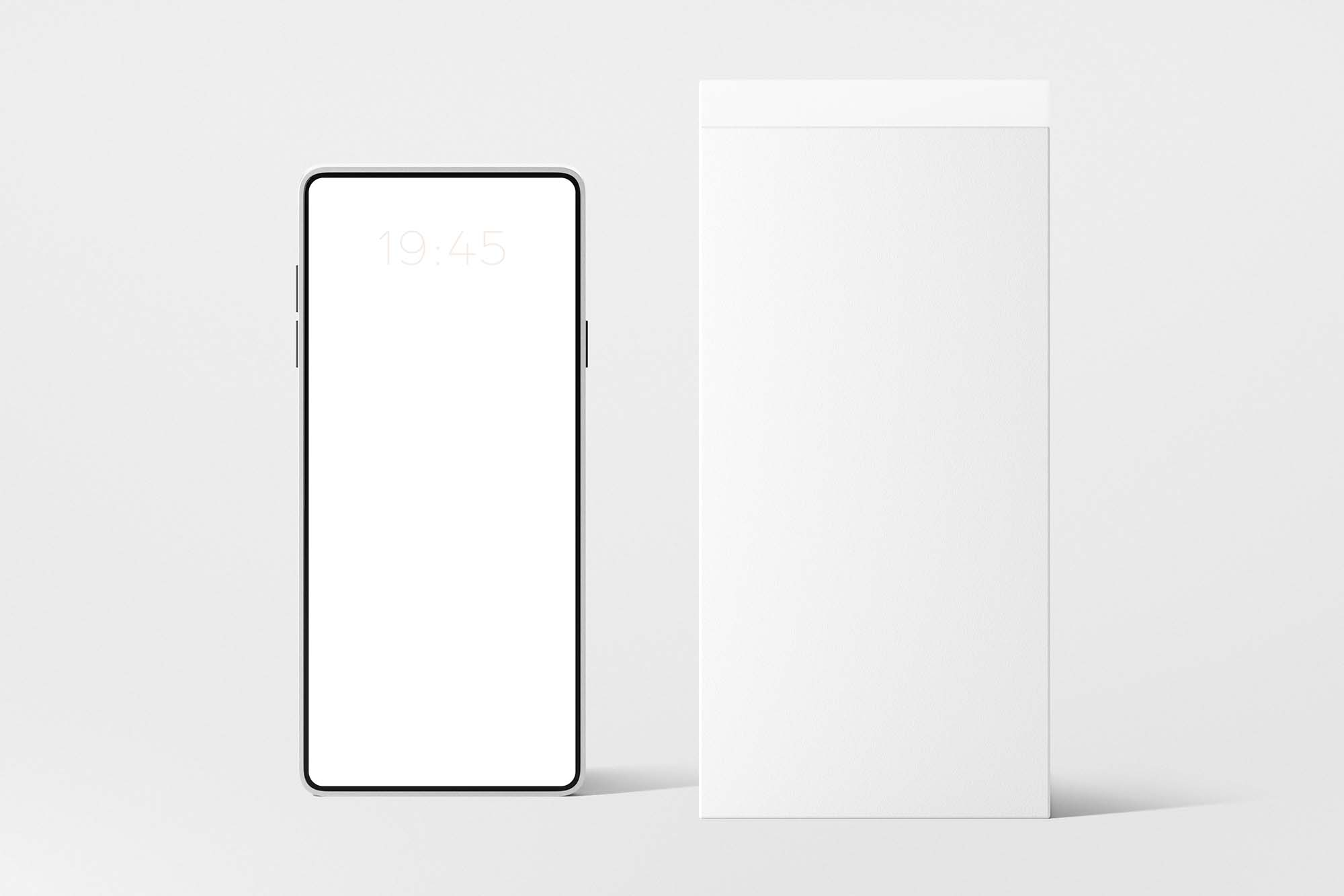 Phone With Box Mockup 2