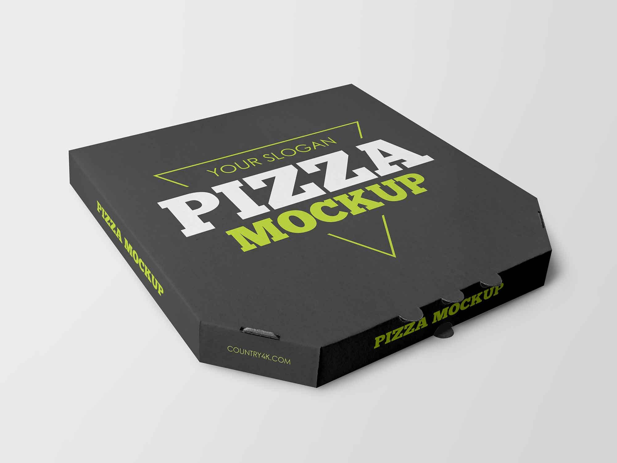 Pizza Delivery Box Mockup 2