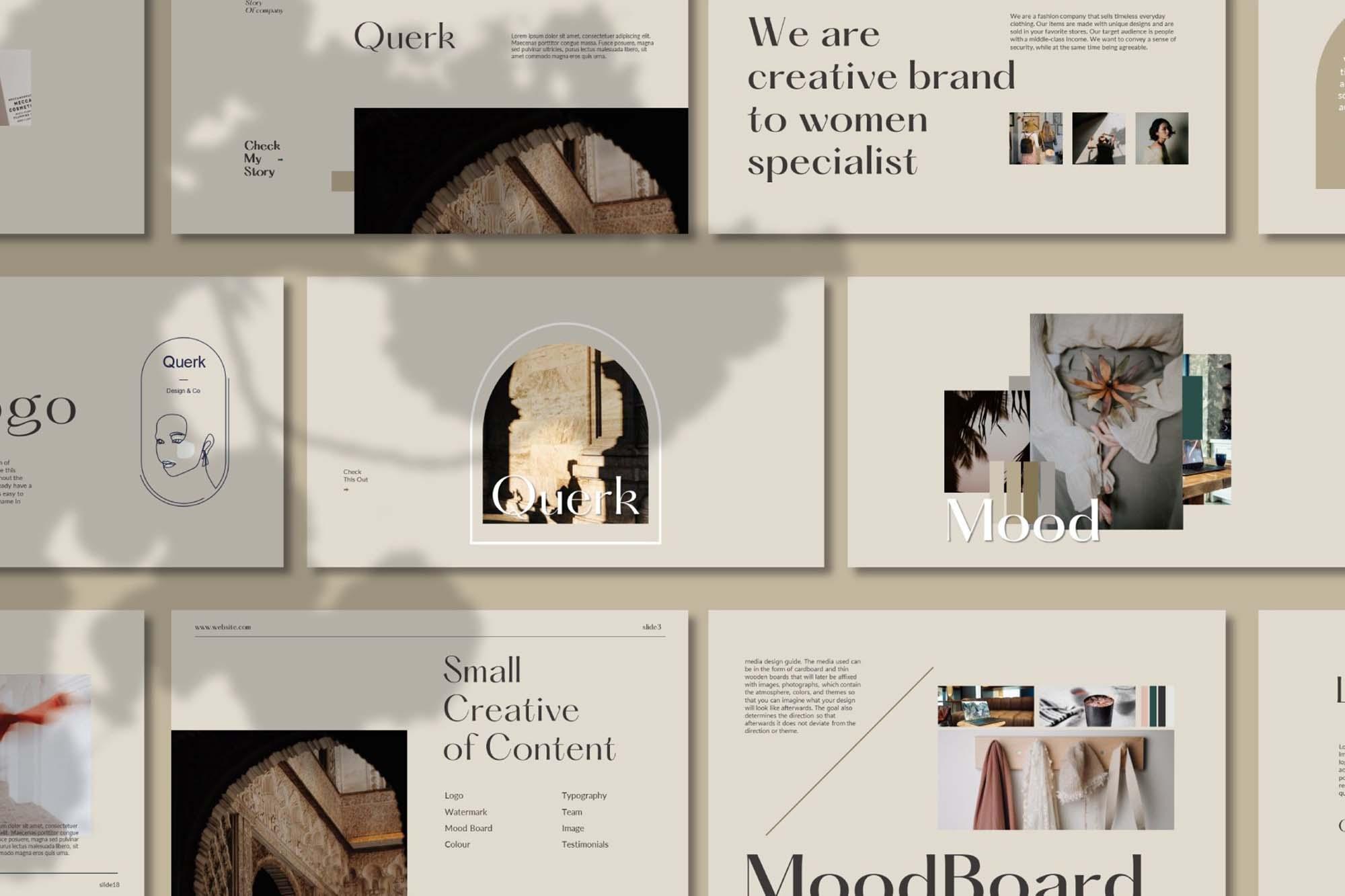 Querk Brand Presentation Template 2