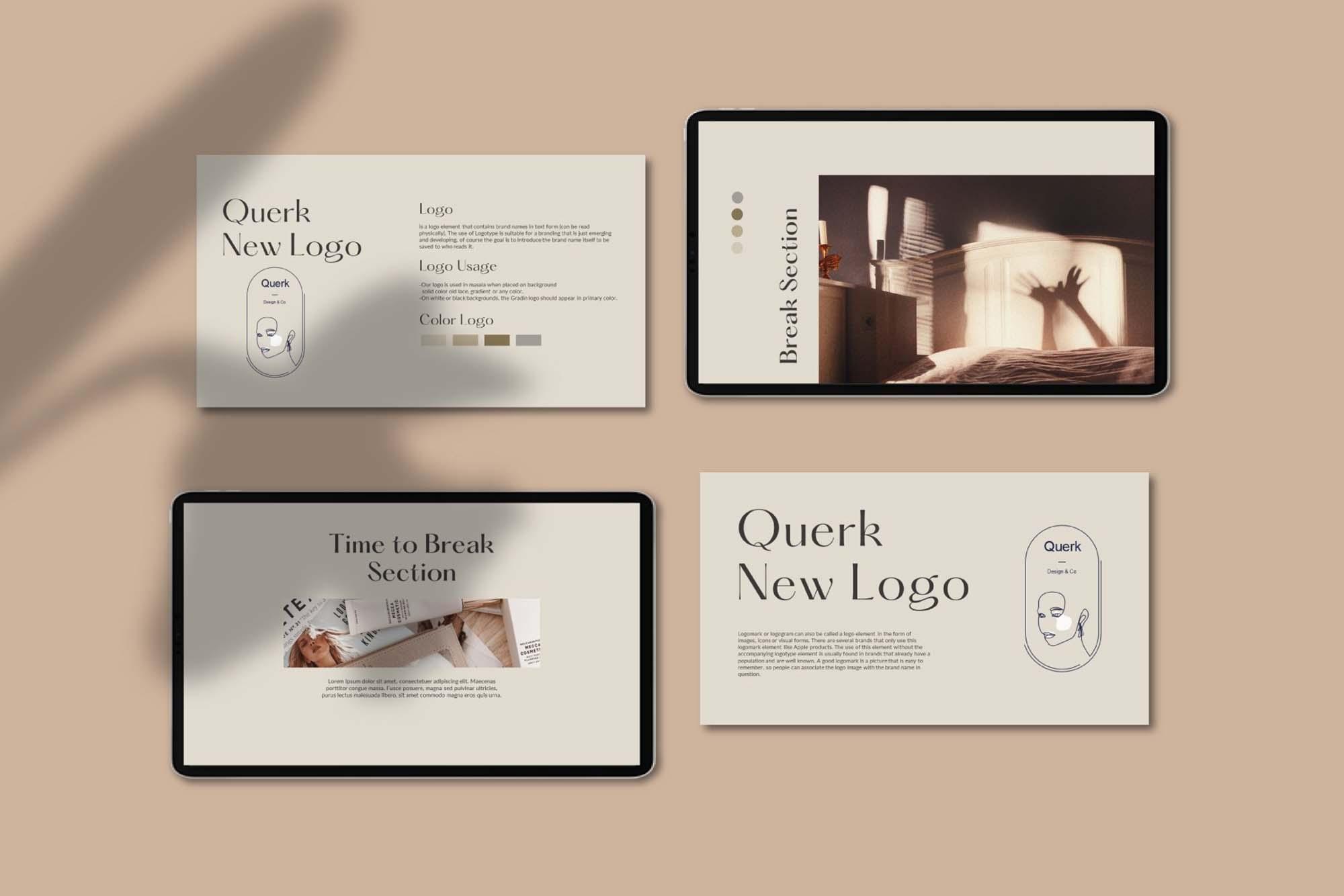 Querk Brand Presentation Template 3