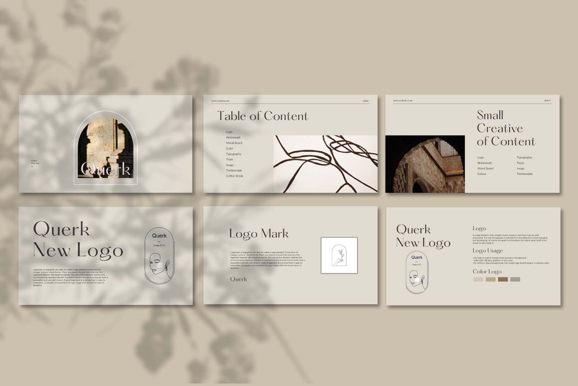 Querk Brand Presentation Template 4