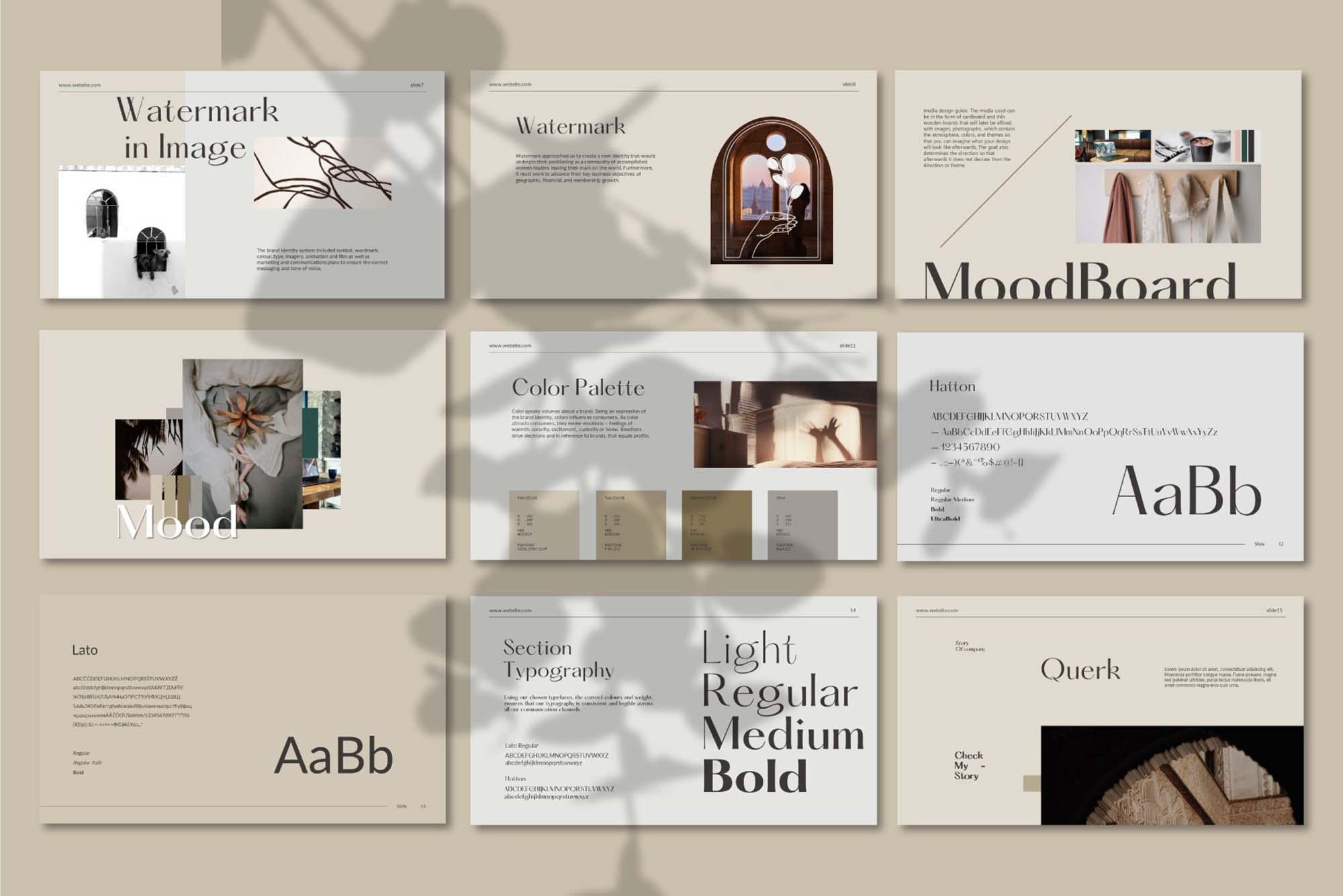 Querk Brand Presentation Template 5