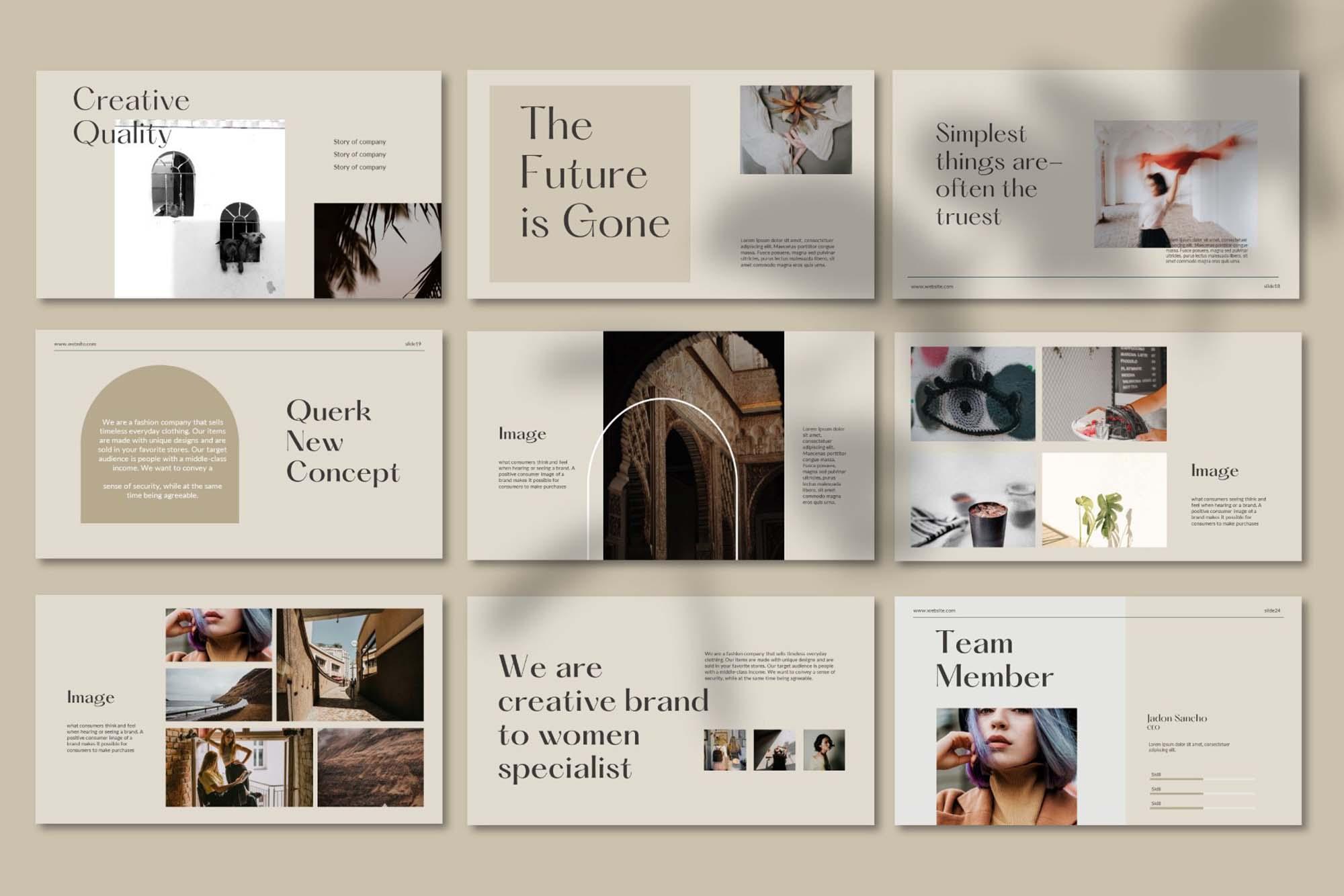 Querk Brand Presentation Template 6