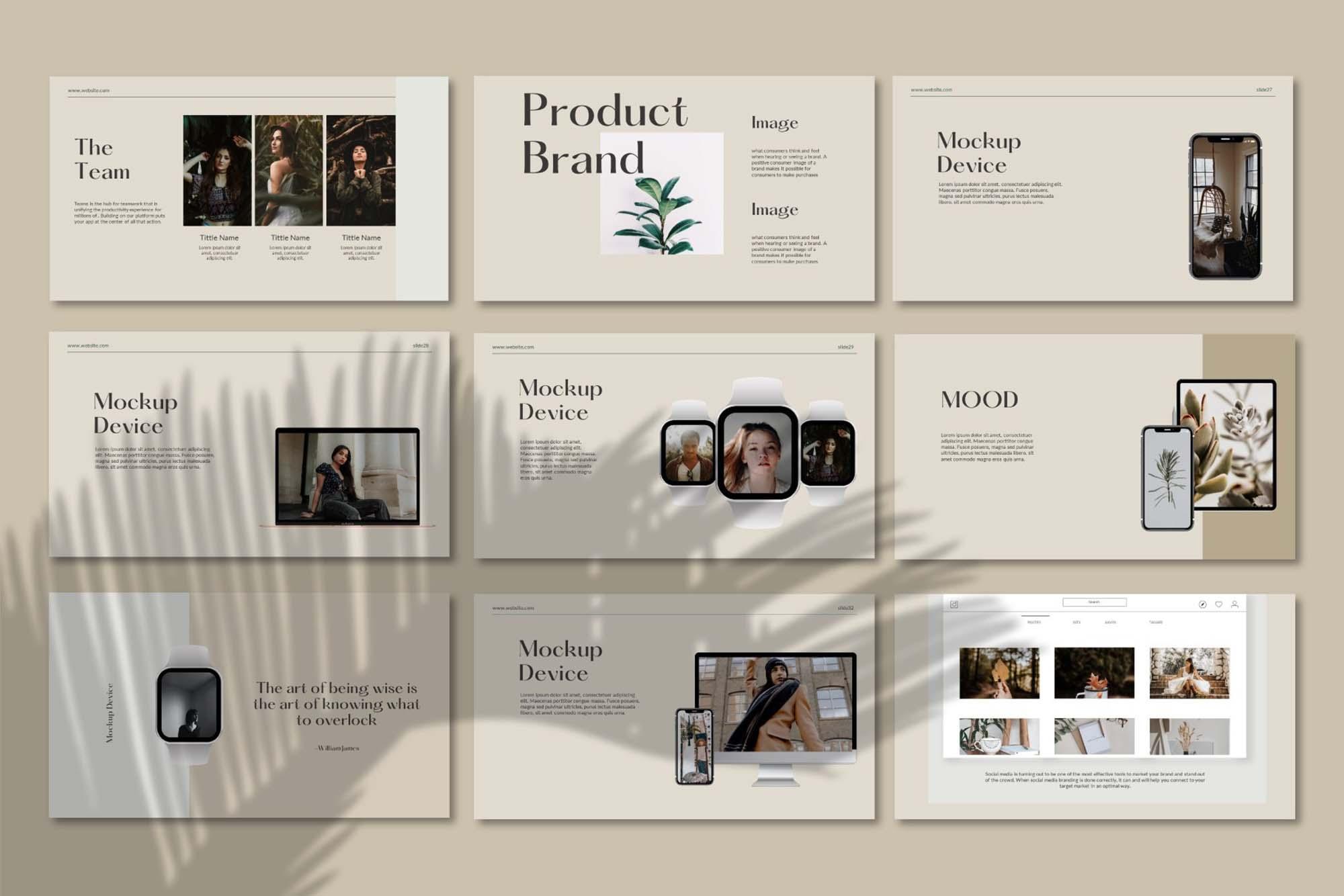 Querk Brand Presentation Template 7