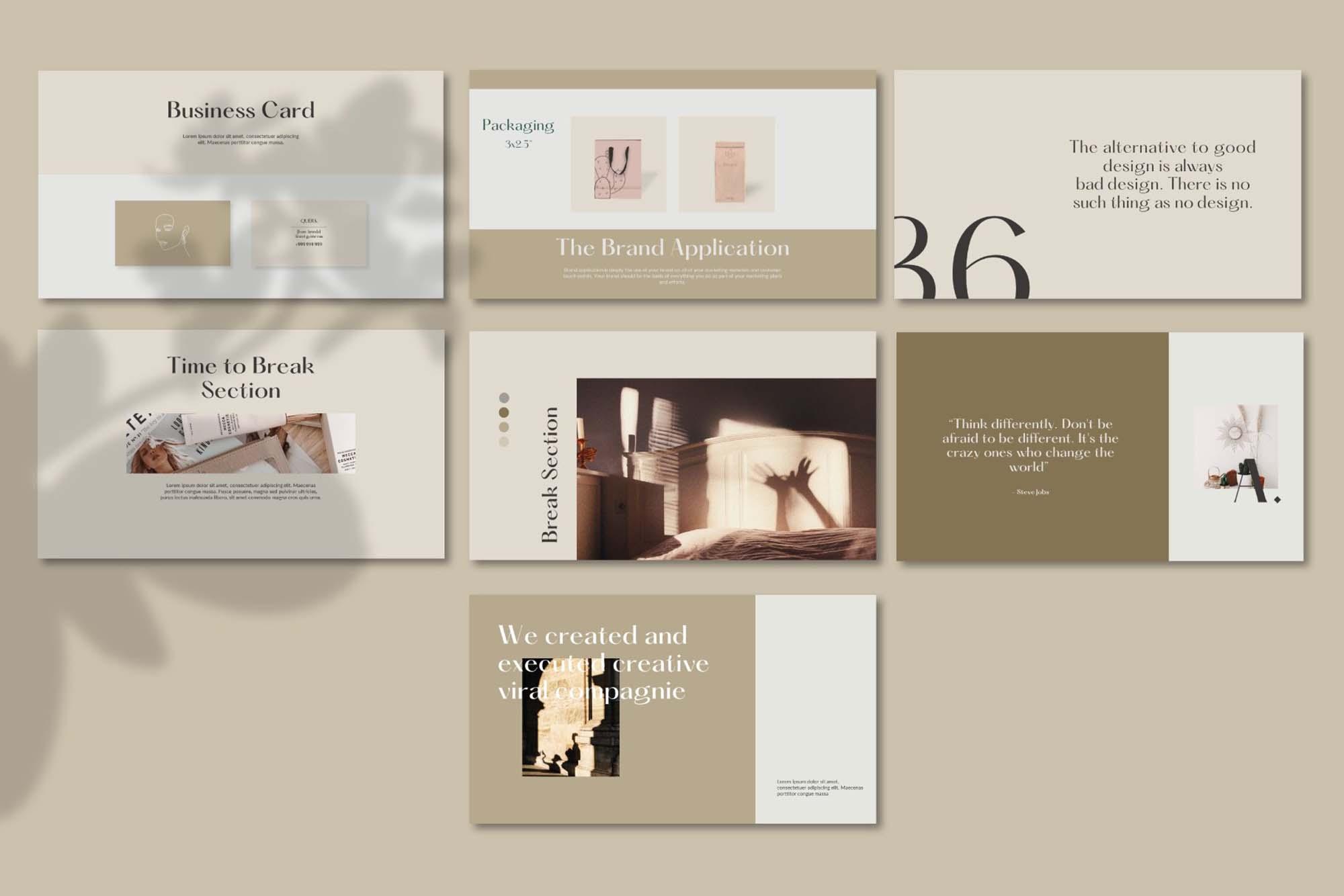 Querk Brand Presentation Template 8