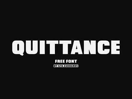 Quittance Sans Serif Font