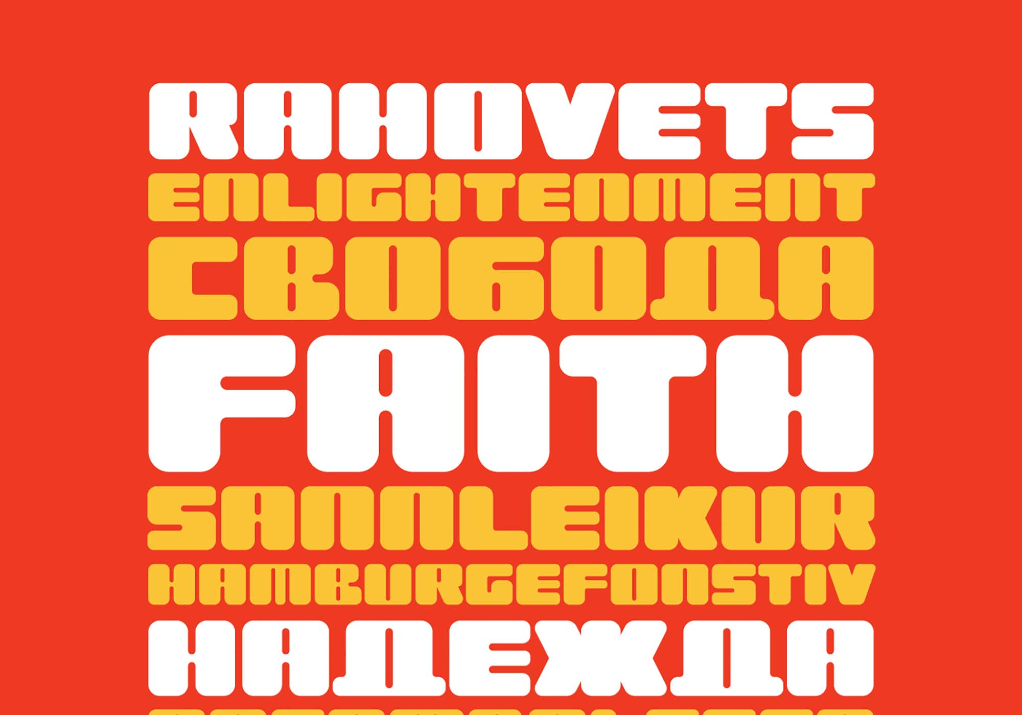 Rahovets Retro Display Font 3