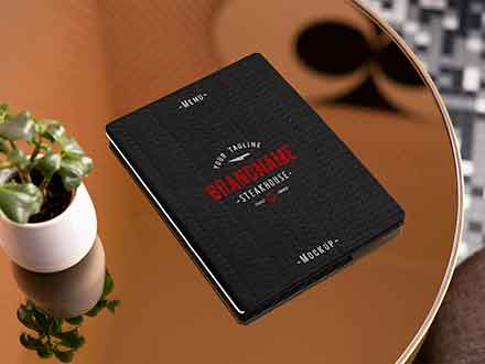 Restaurant Card Menu Mockup