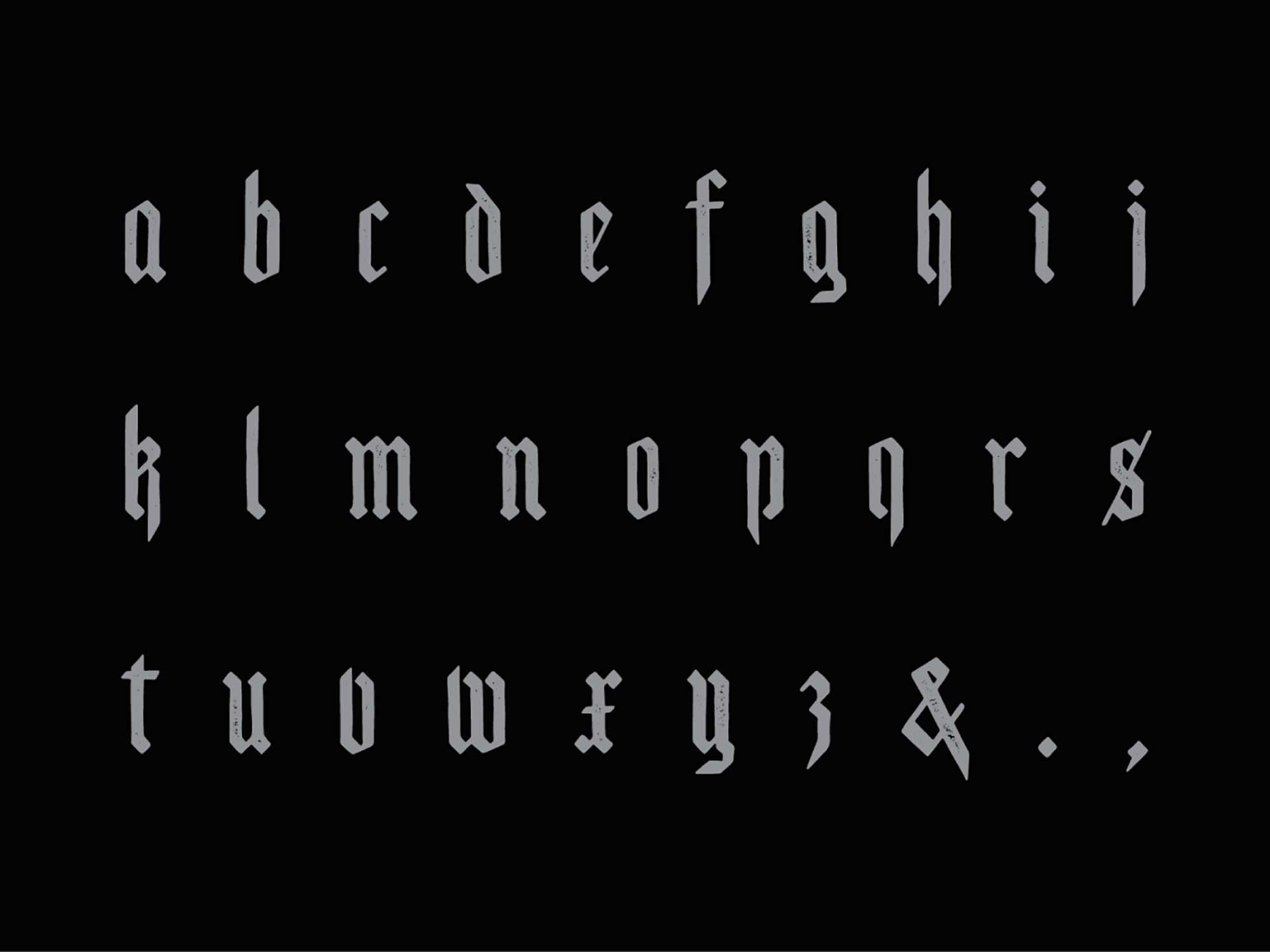 Scotland Blackletter Display Font 2