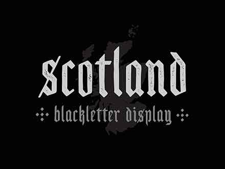 Scotland Blackletter Display Font