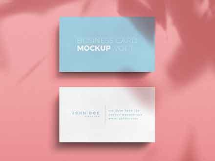 Standard Business Card Mockup