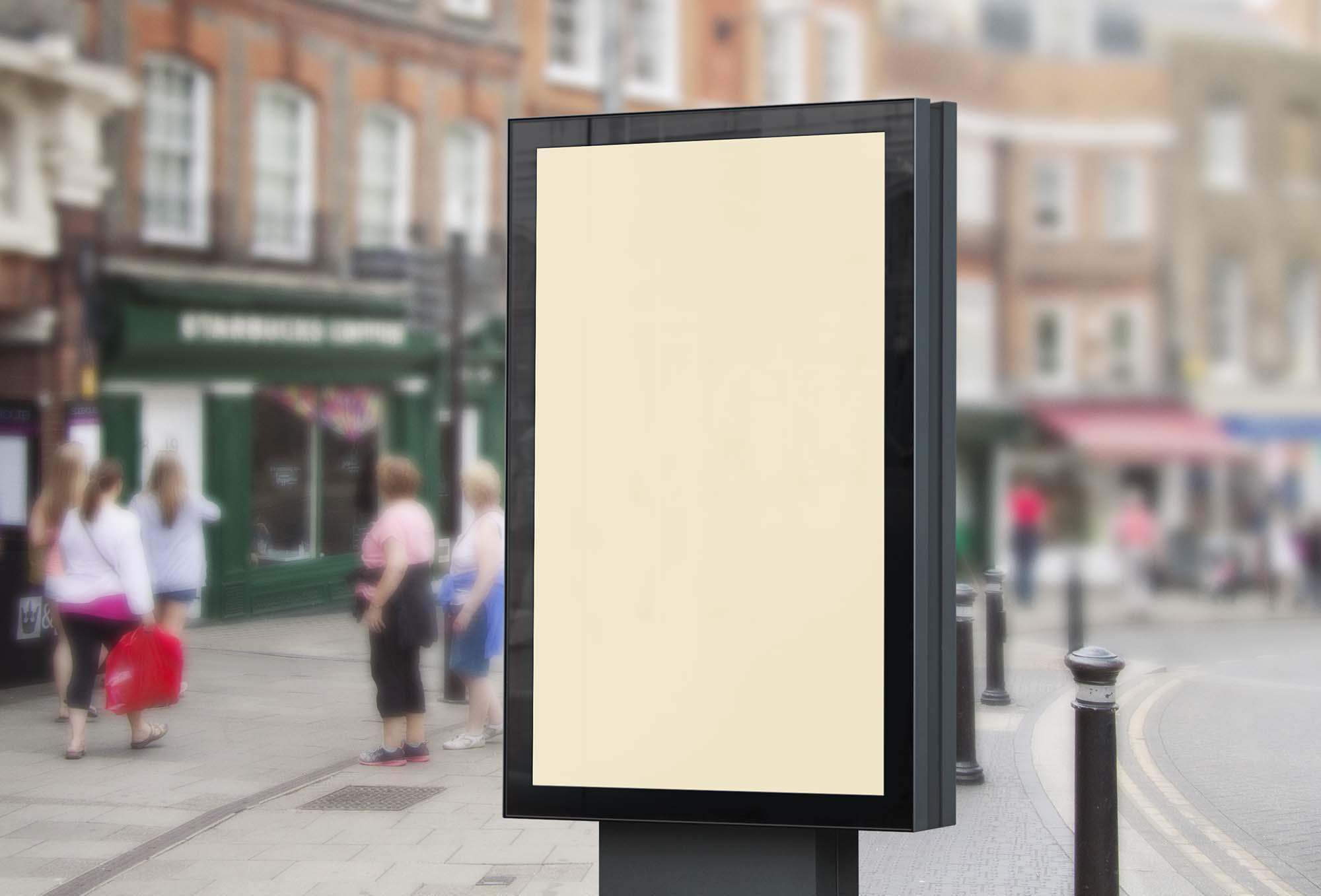 Street Billboard Mockup 2