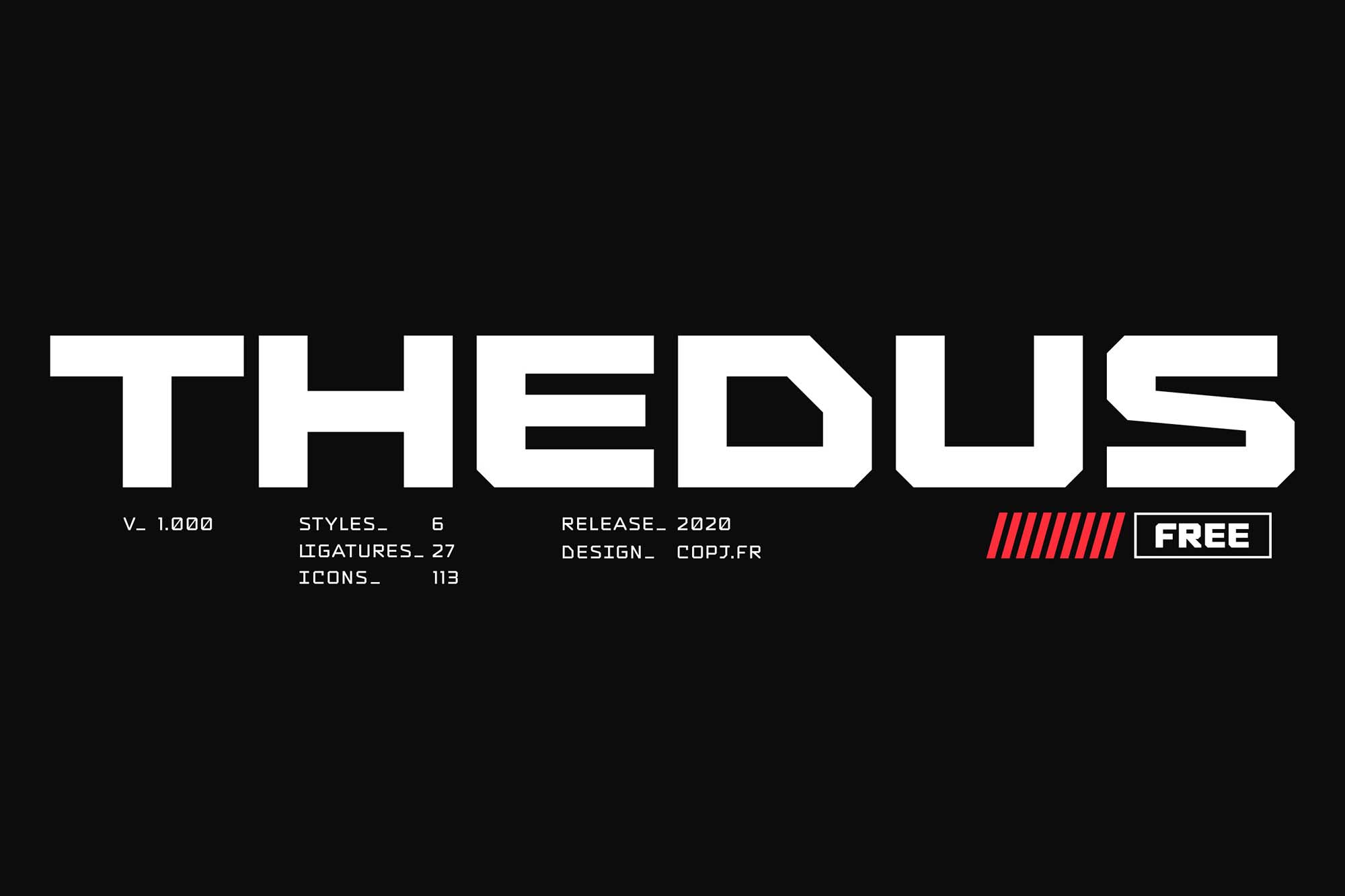 Thedus Display Font