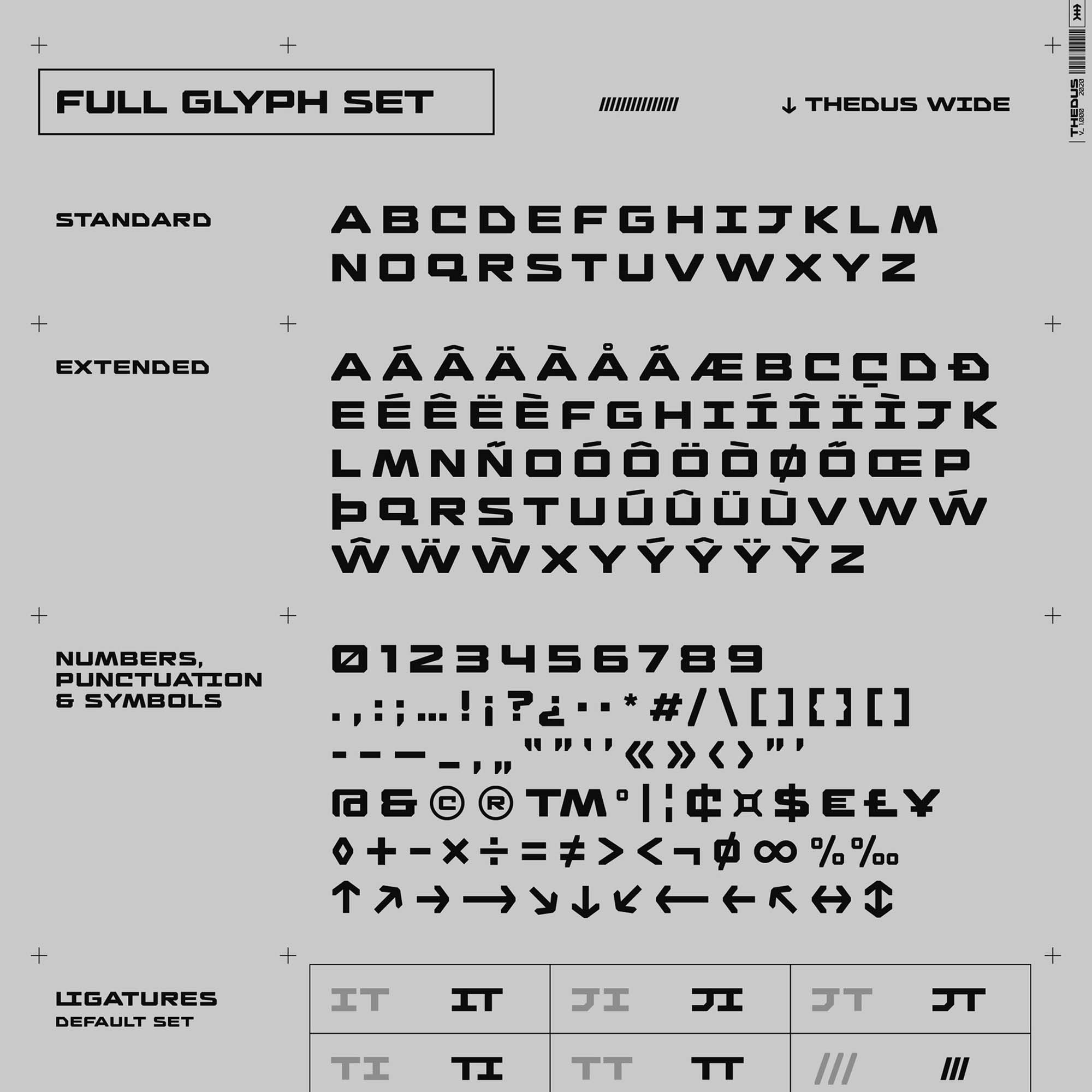Thedus Display Font 14