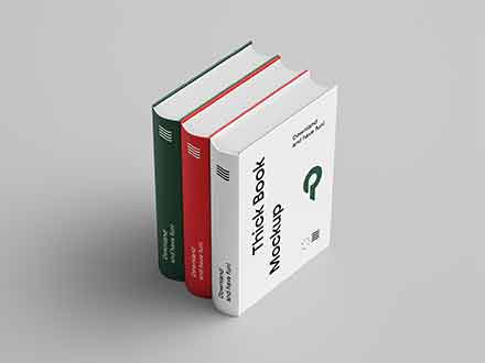 Thick Book Mockup