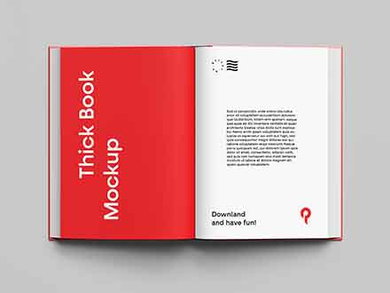 Top View Book Mockup