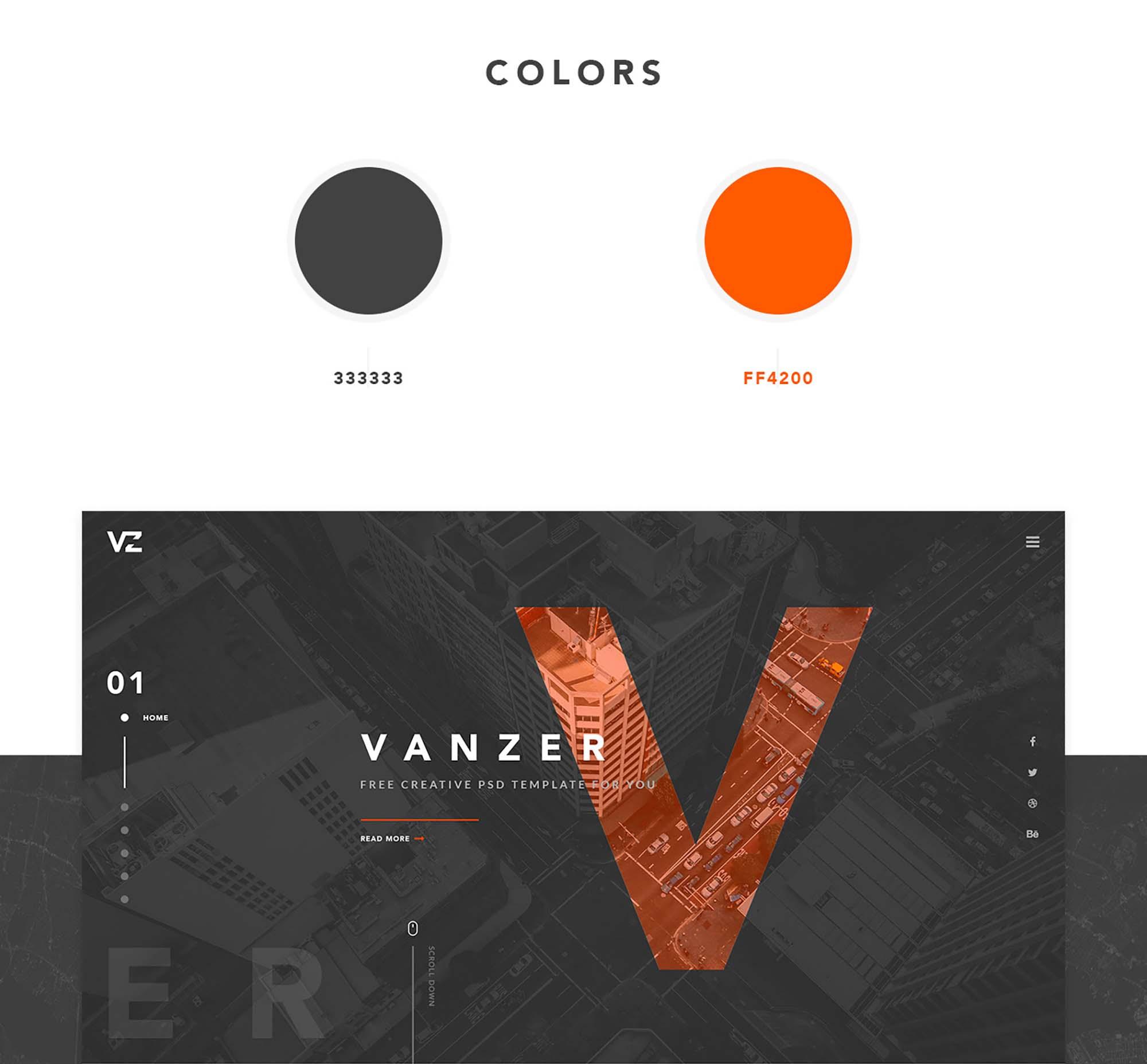 Vanzer Portfolio Website Template 1