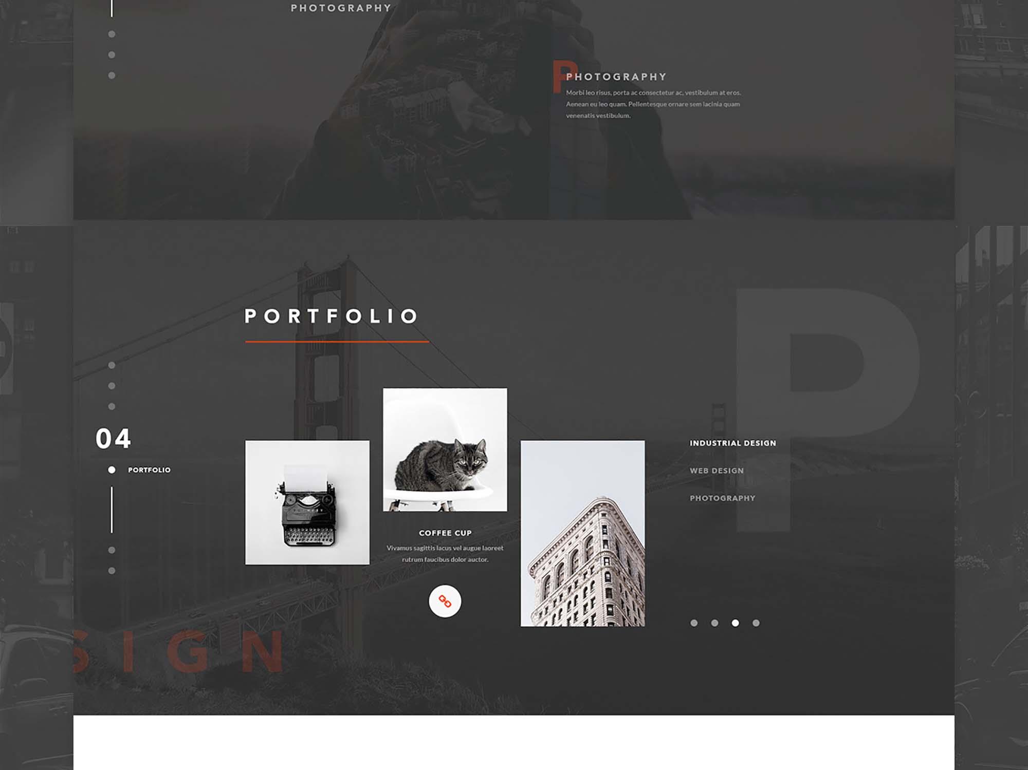 Vanzer Portfolio Website Template 3