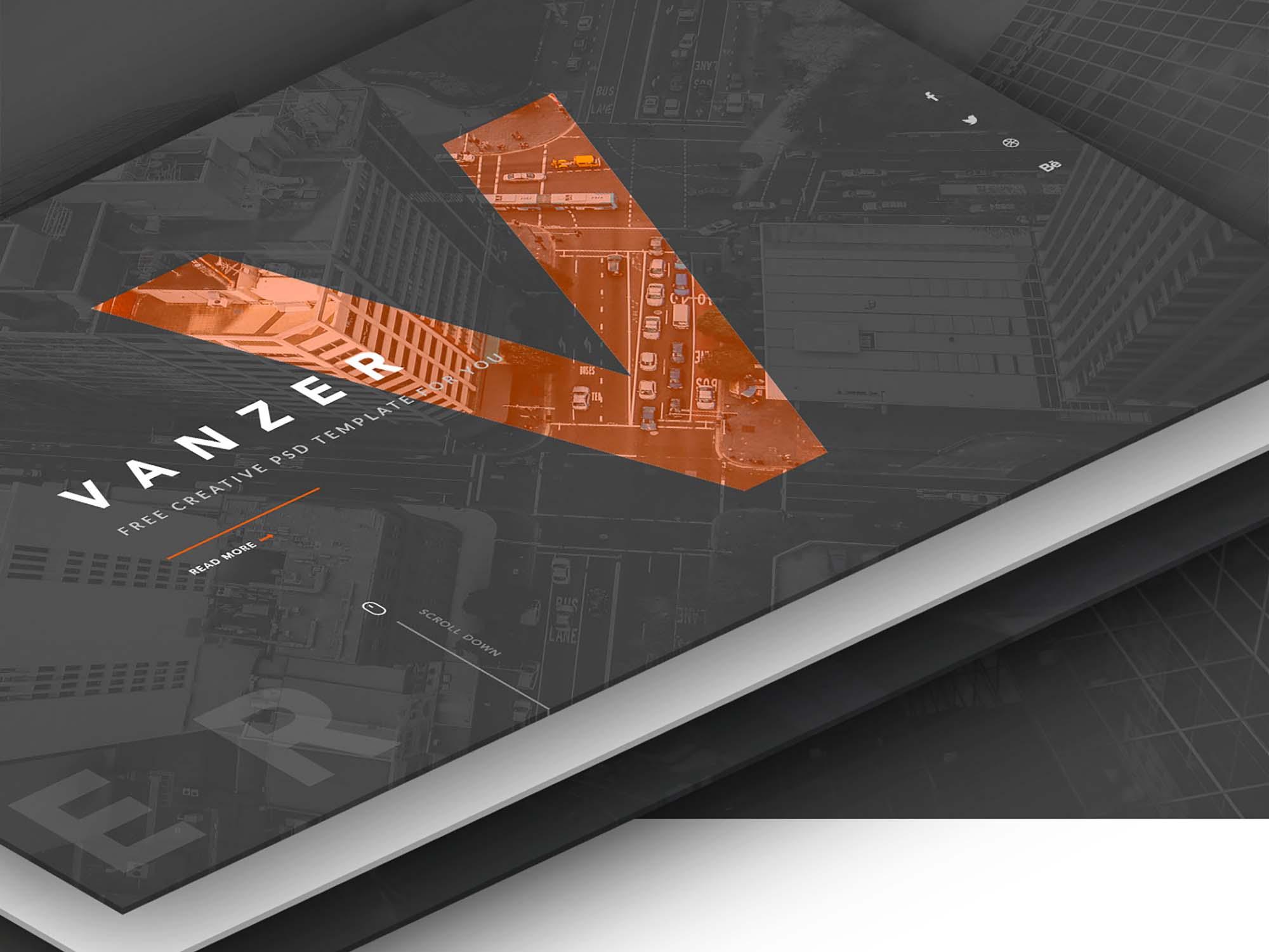 Vanzer Portfolio Website Template 6