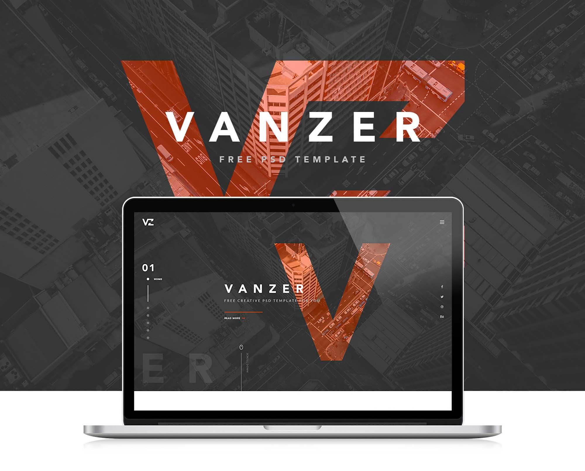 Vanzer Portfolio Website Template