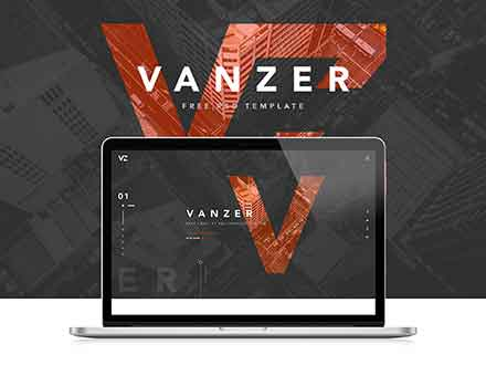 Vanzer Portfolio Website Template